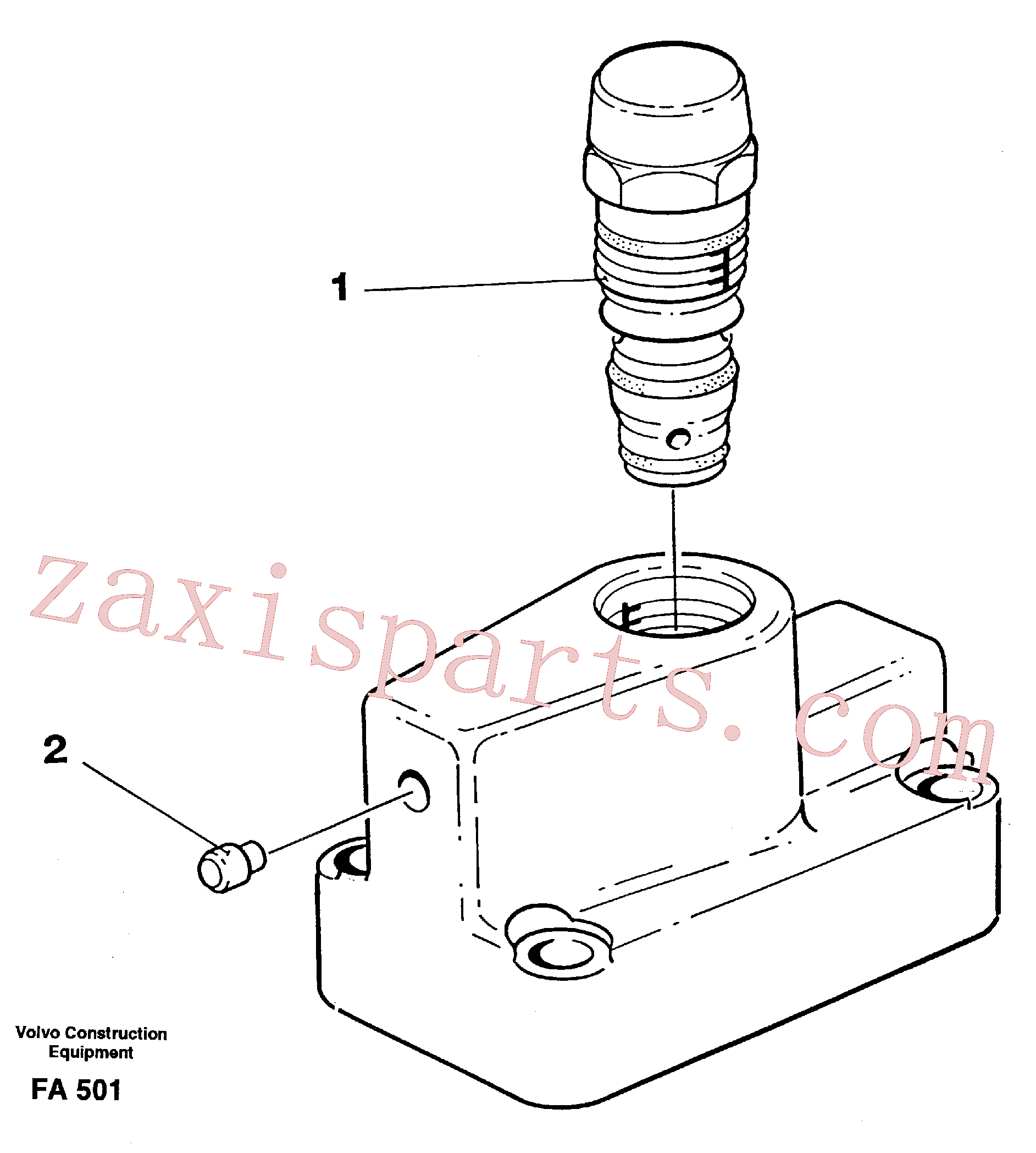 VOE14267238 for Volvo Pressure limiting valve(FA501 assembly)