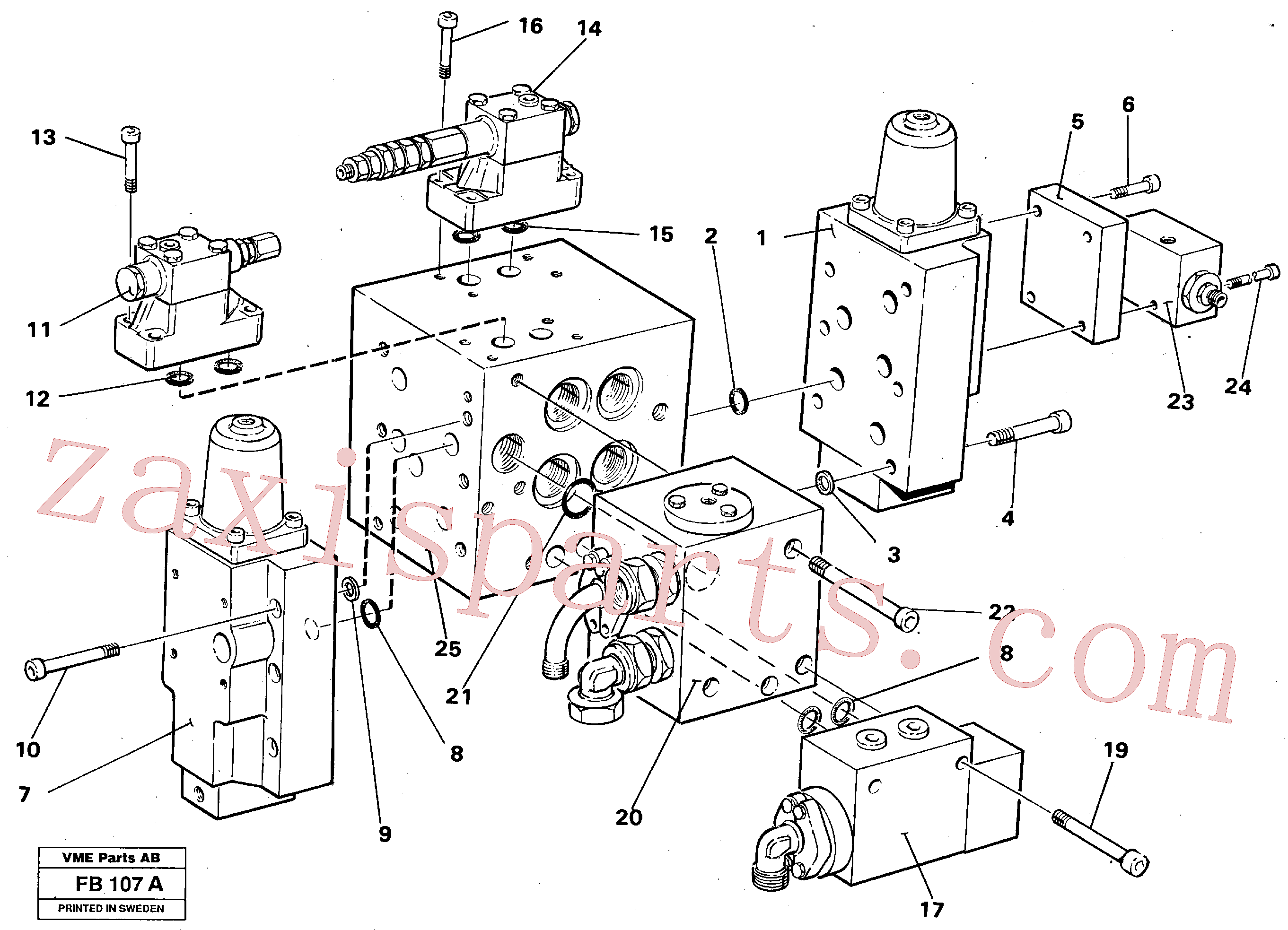 VOE14049759 for Volvo Slew valve assembly Valves(FB107A assembly)