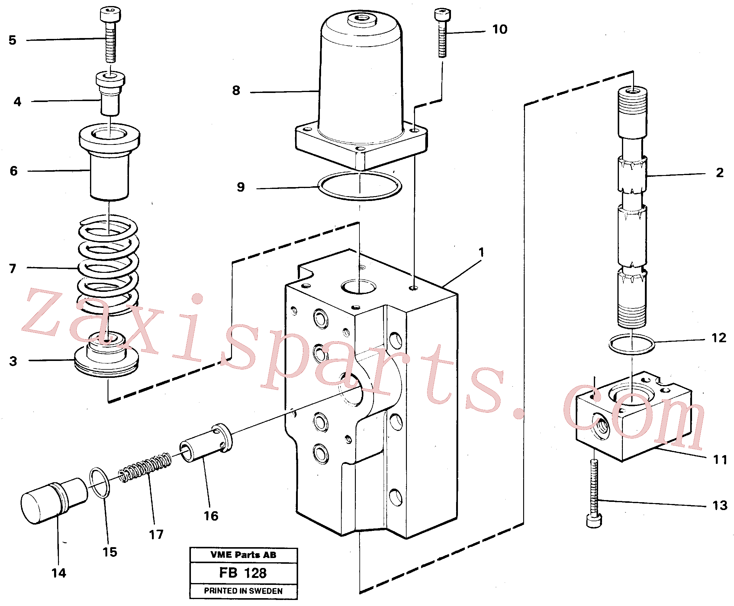 VOE14048558 for Volvo Four-way valves Primary(FB128 assembly)