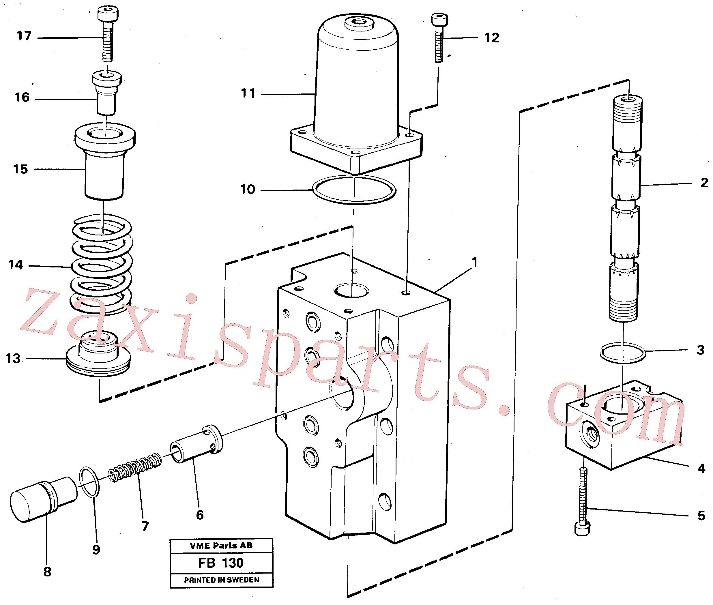 VOE14048558 for Volvo Four-way valve, Four-way valve Primary(FB130 assembly)