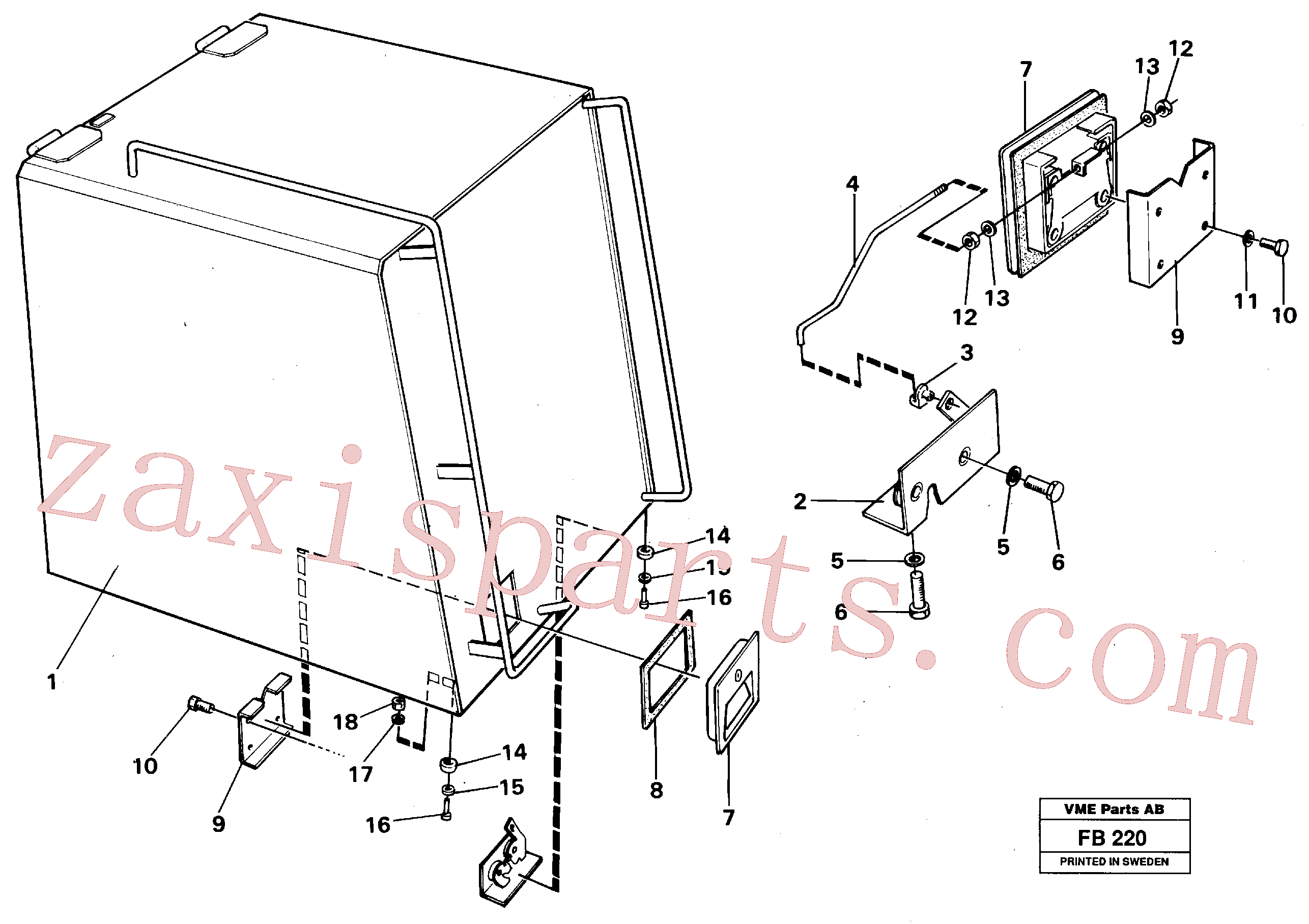 VOE955779 for Volvo Casing over battery(FB220 assembly)