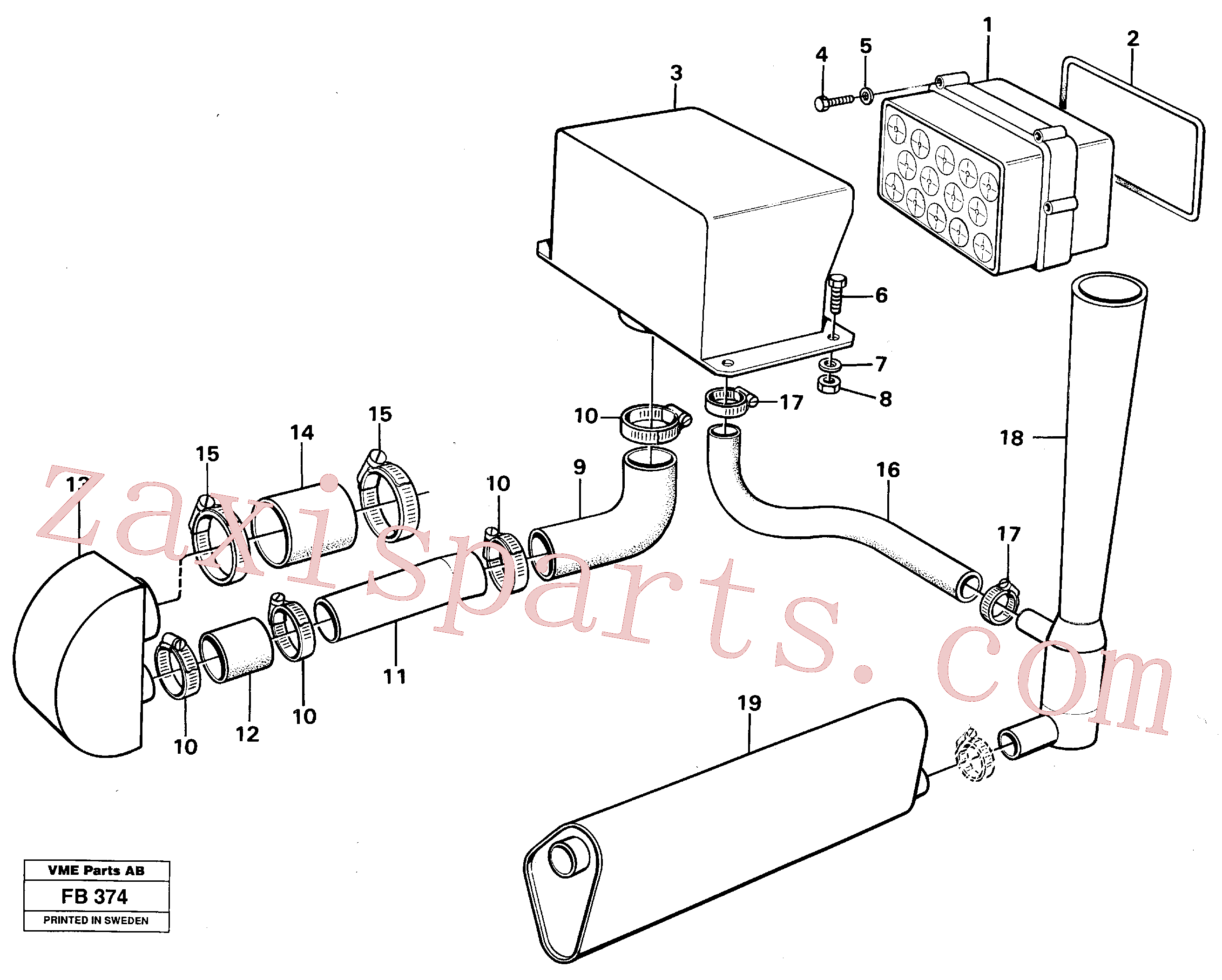 VOE14248986 for Volvo Precyclone with ejector(FB374 assembly)