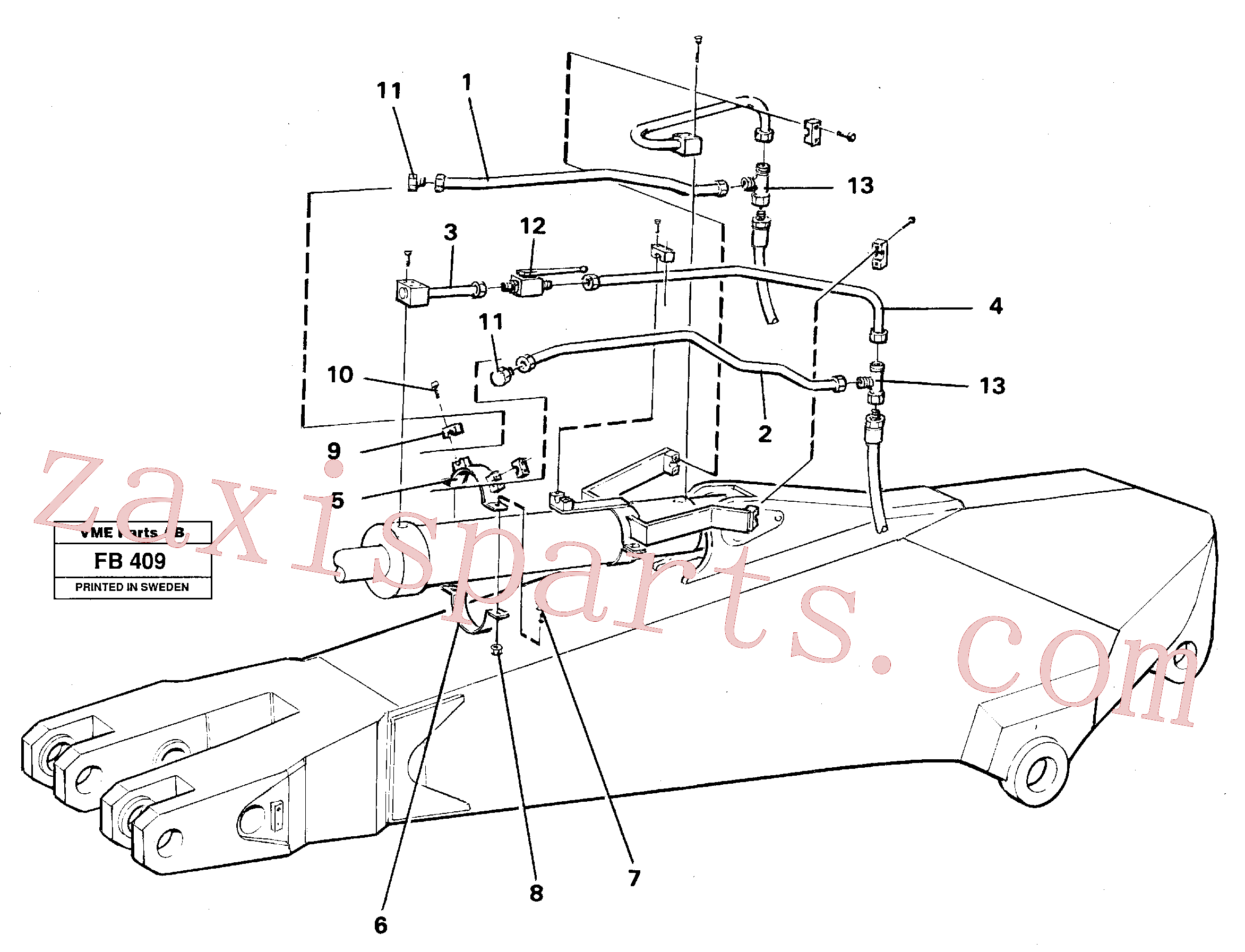 VOE14249977 for Volvo Parallel connected grab hydraulics on dipper arm(FB409 assembly)