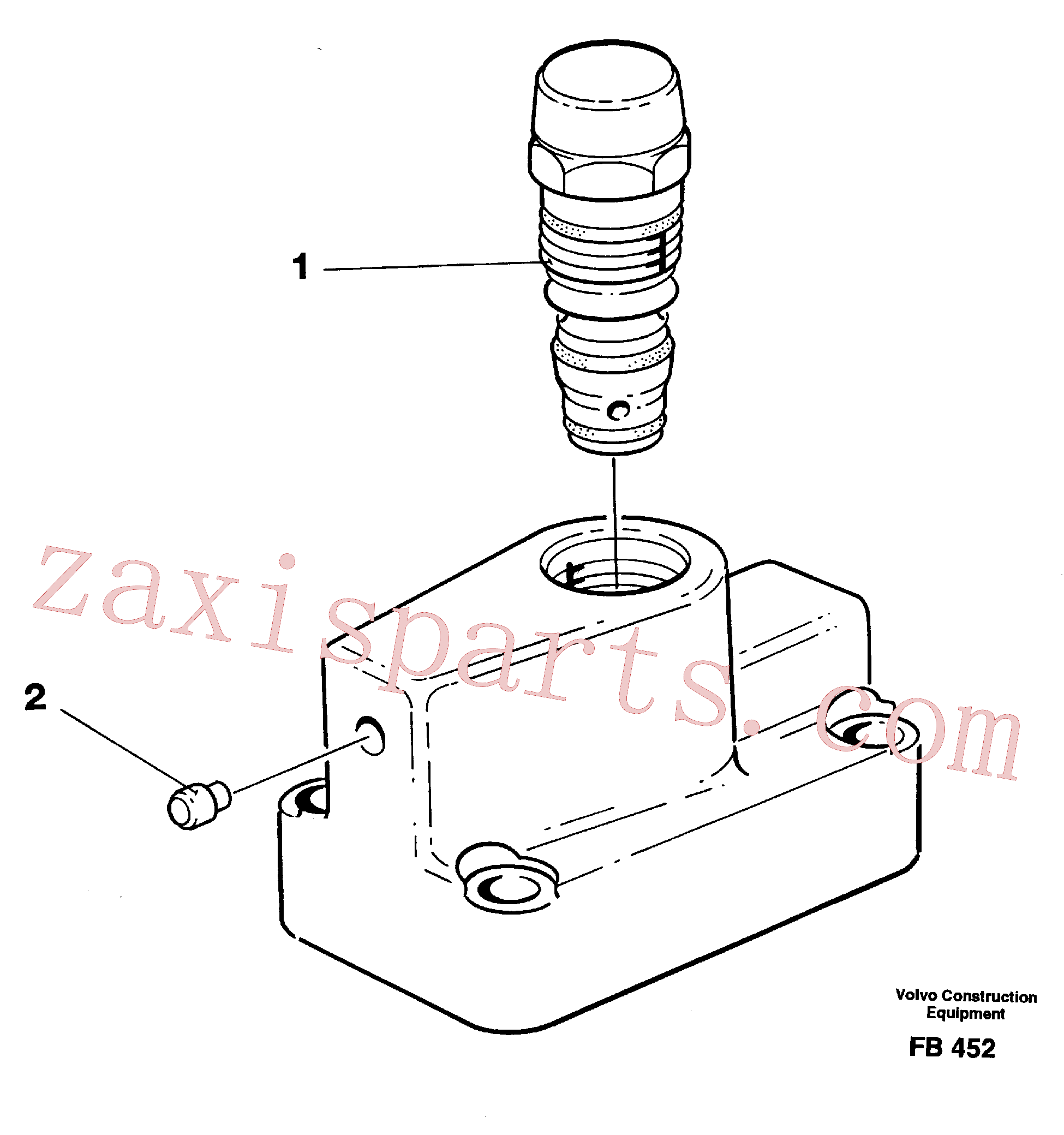 VOE14267238 for Volvo Pressure limiting valve(FB452 assembly)