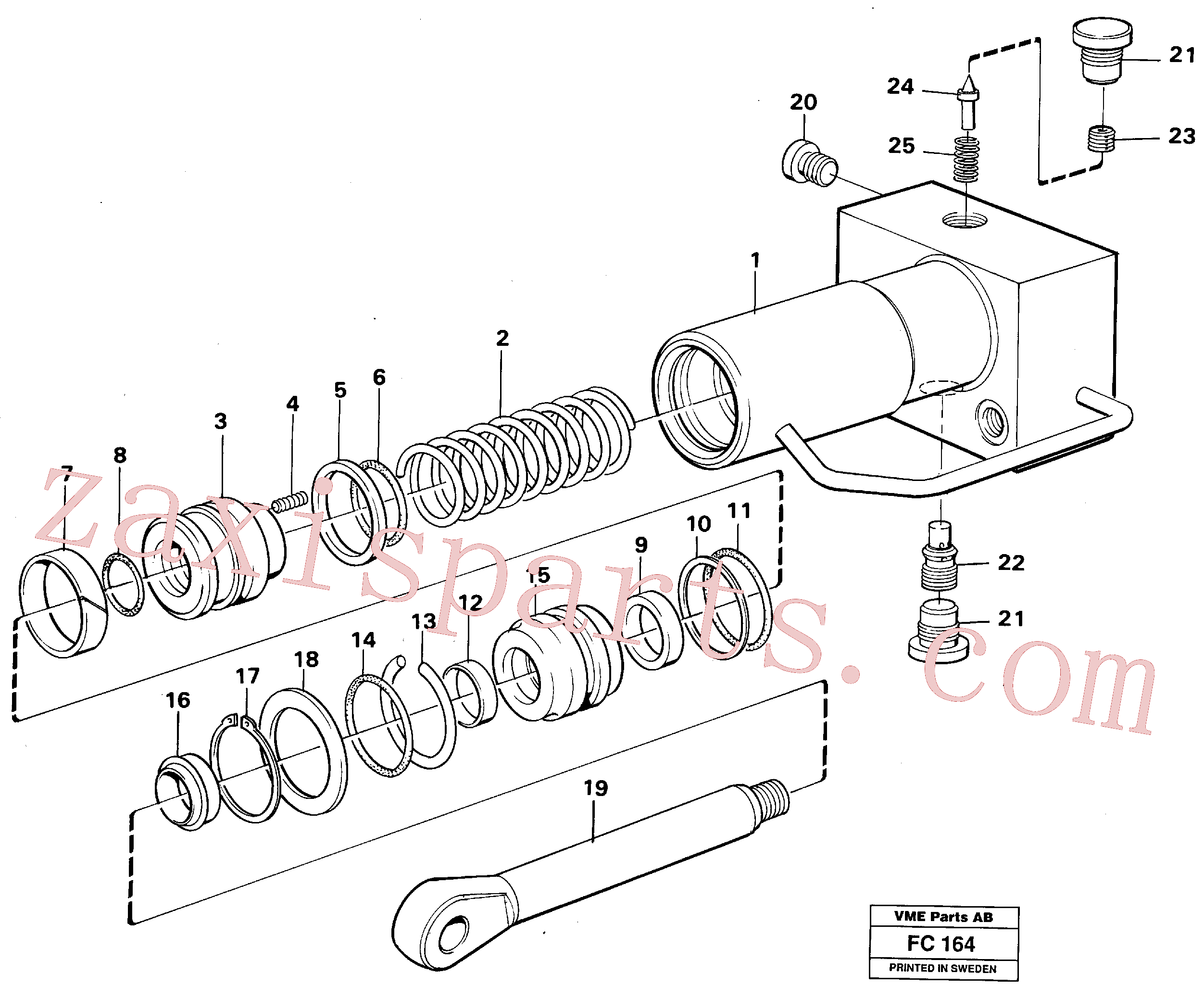 VOE14257471 for Volvo Hydraulic cylinder, quick attachment(FC164 assembly)