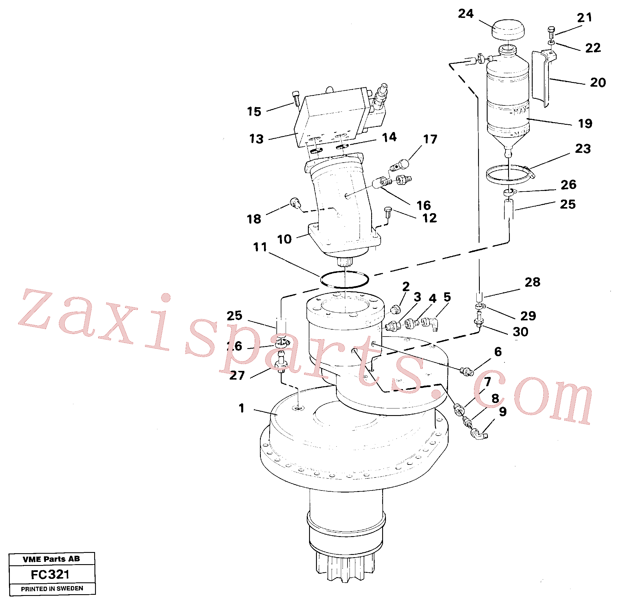 VOE14213275 for Volvo Slewing gear box, compl.(FC321 assembly)