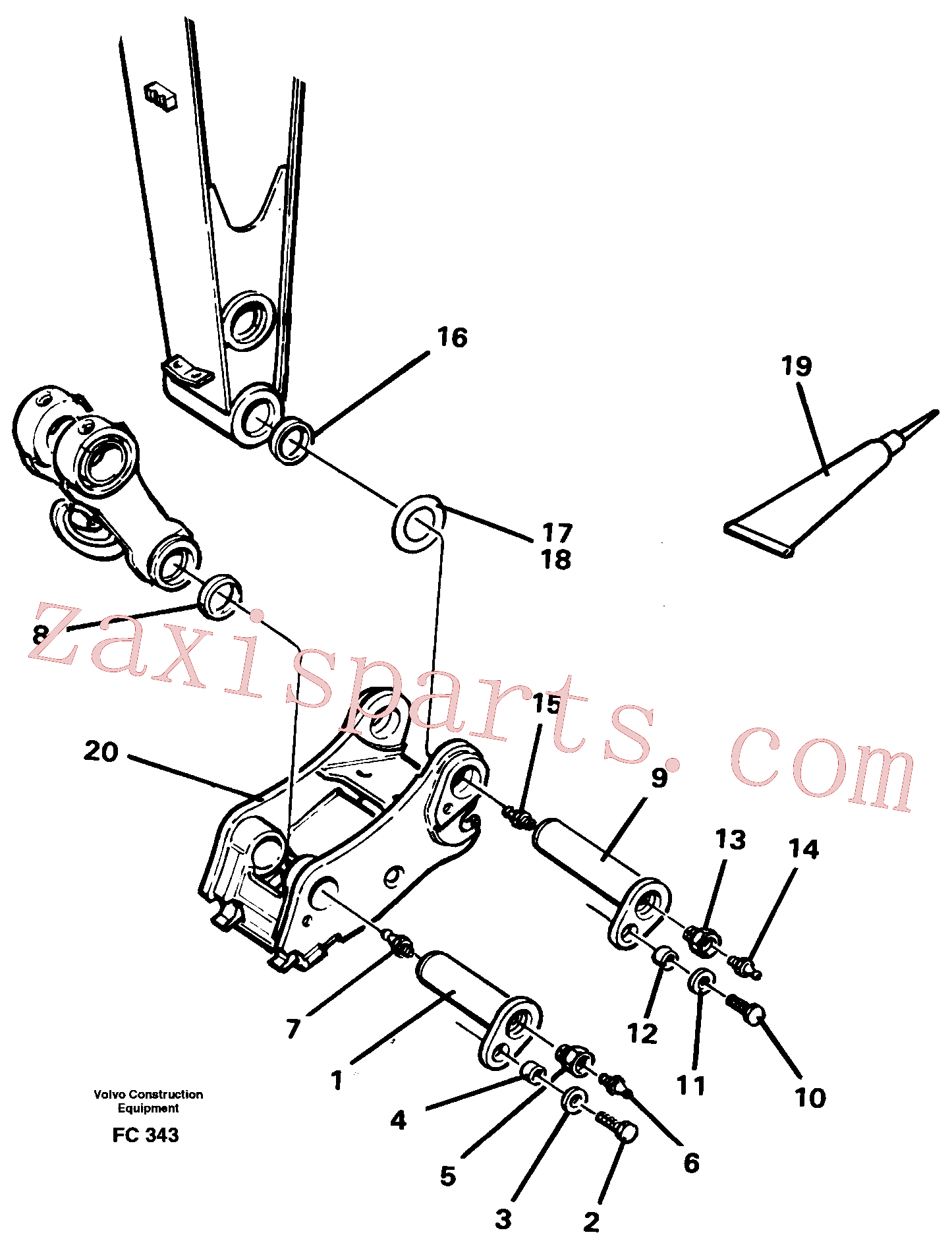 VOE14235651 for Volvo Attachements, dipper arm-quickfit(FC343 assembly)