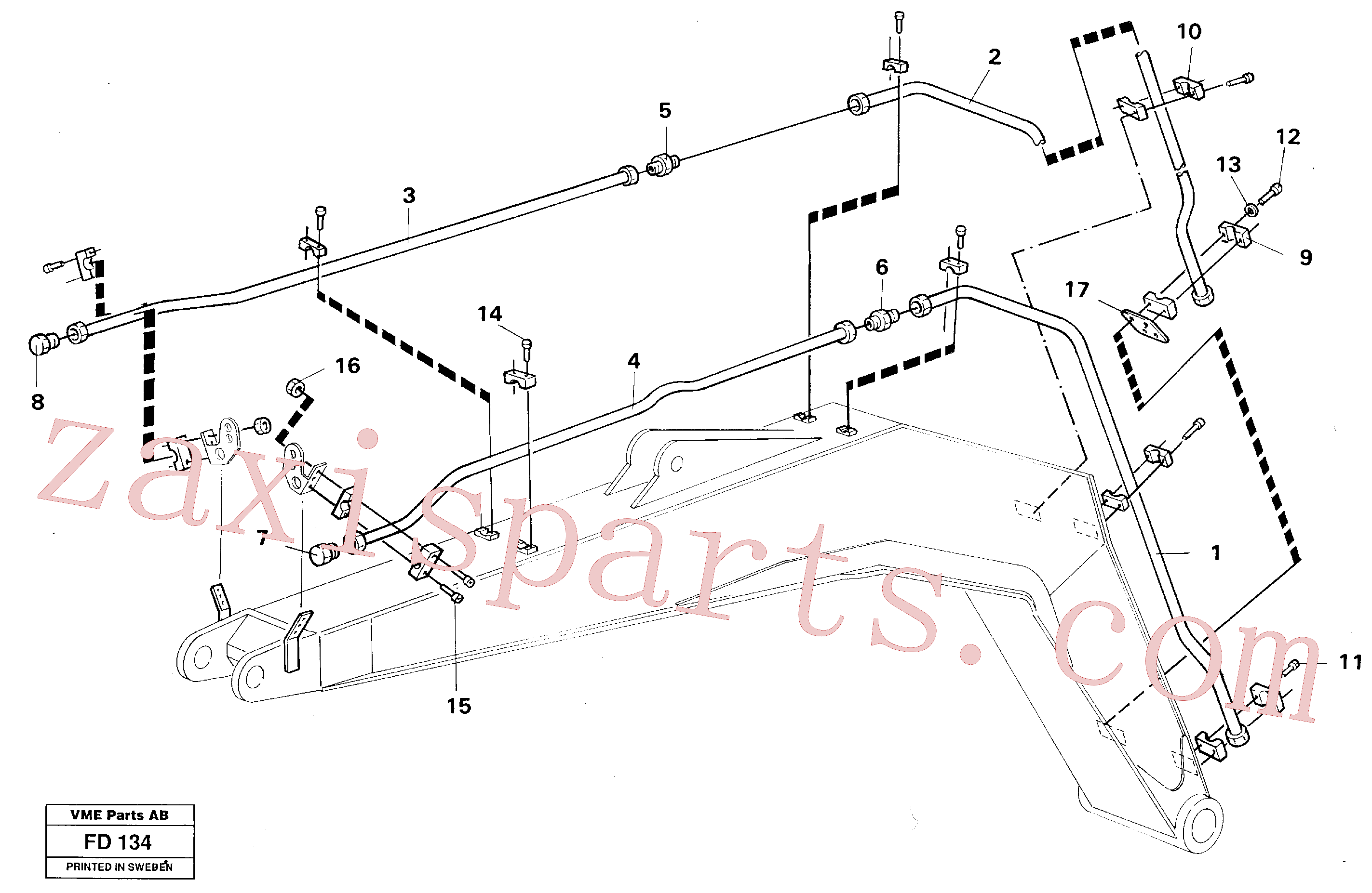 VOE11706282 for Volvo Hydr, hammer, boom(FD134 assembly)