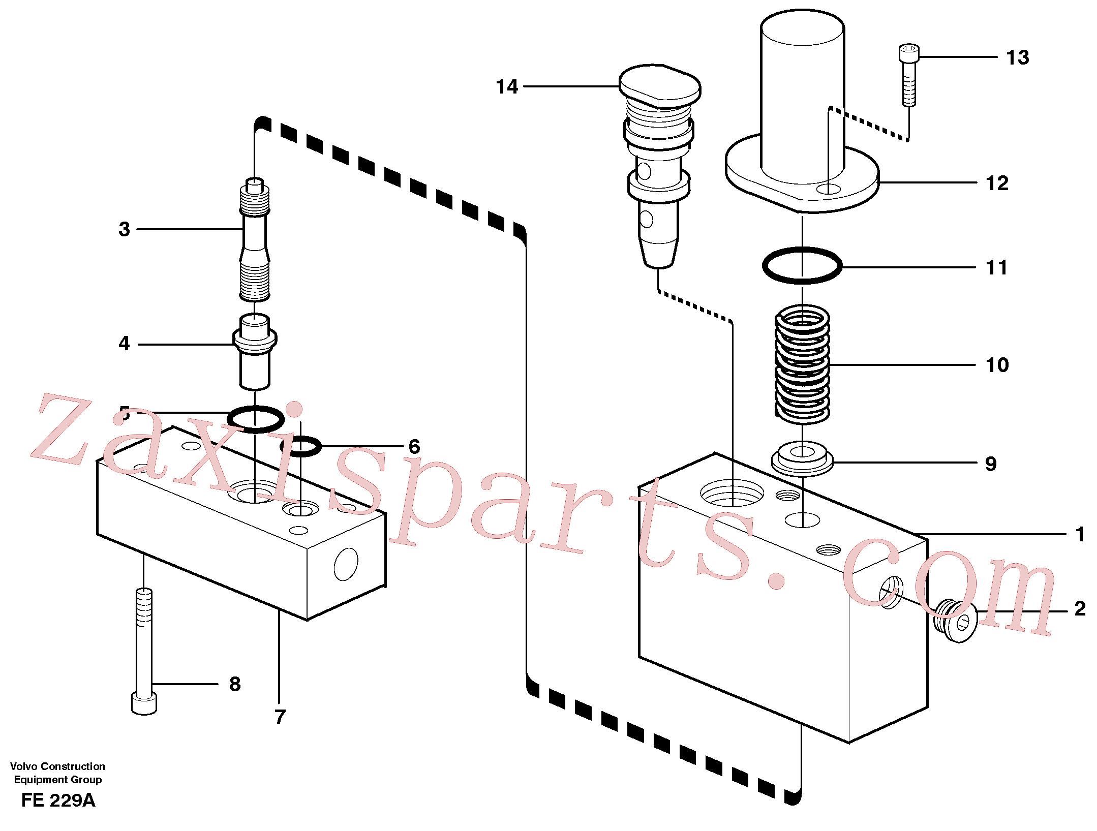 VOE14054984 for Volvo Thermostatic valve(FE229A assembly)