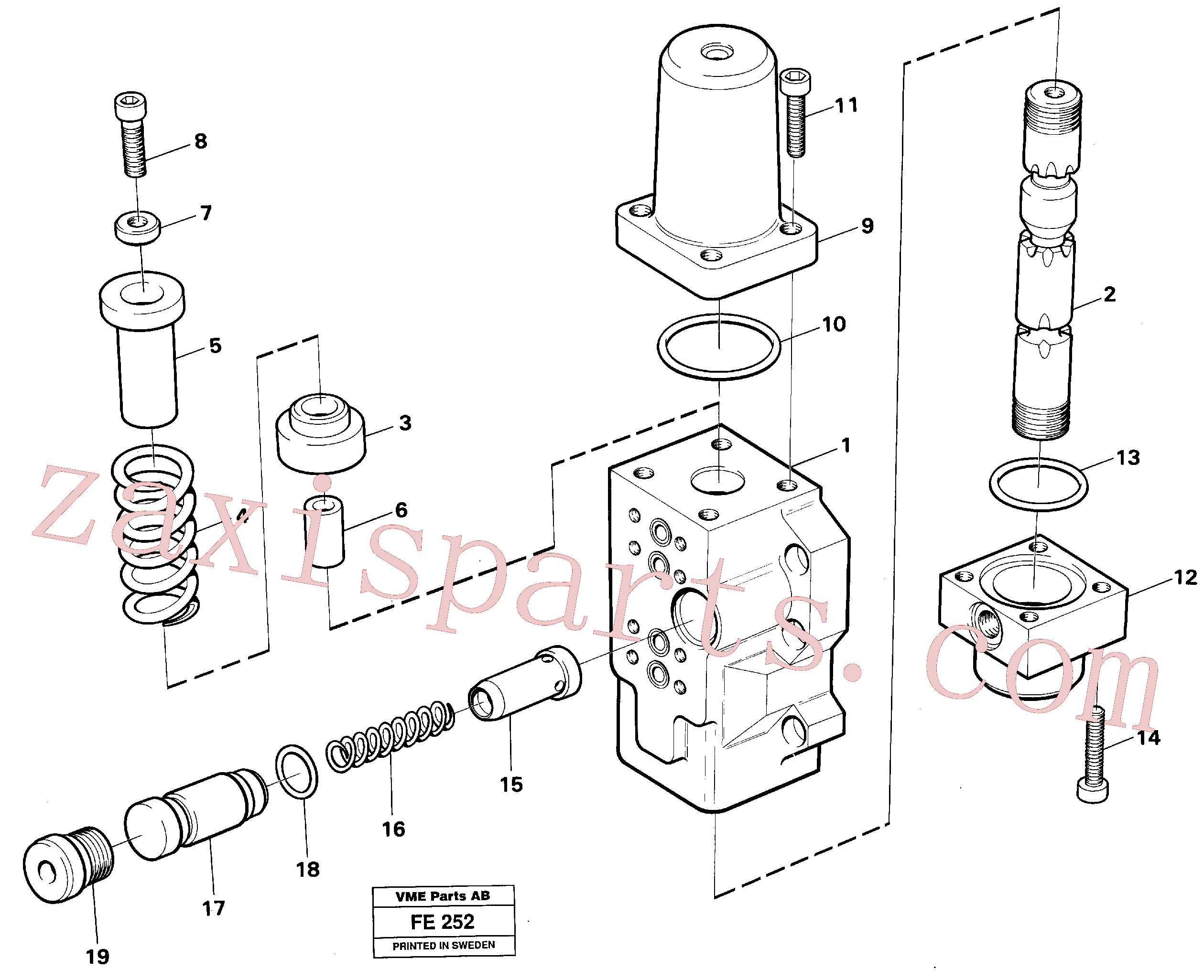 VOE14256962 for Volvo Four-way valve(FE252 assembly)