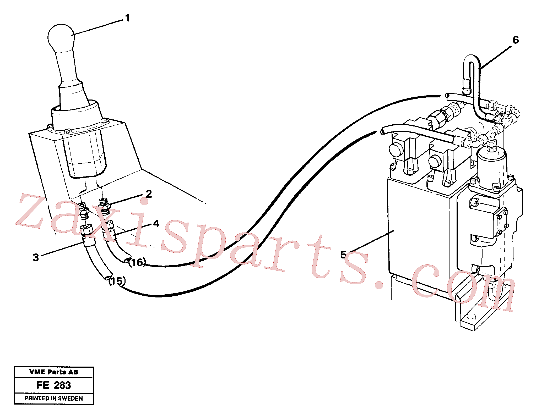 VOE14250295 for Volvo Servo hydraulics, slewing(FE283 assembly)