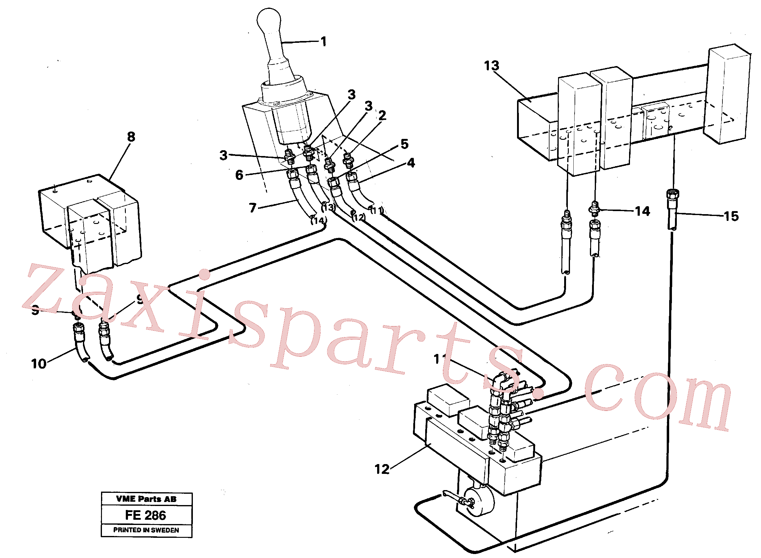 VOE14262462 for Volvo Servo hydraulics, dipper arm(FE286 assembly)