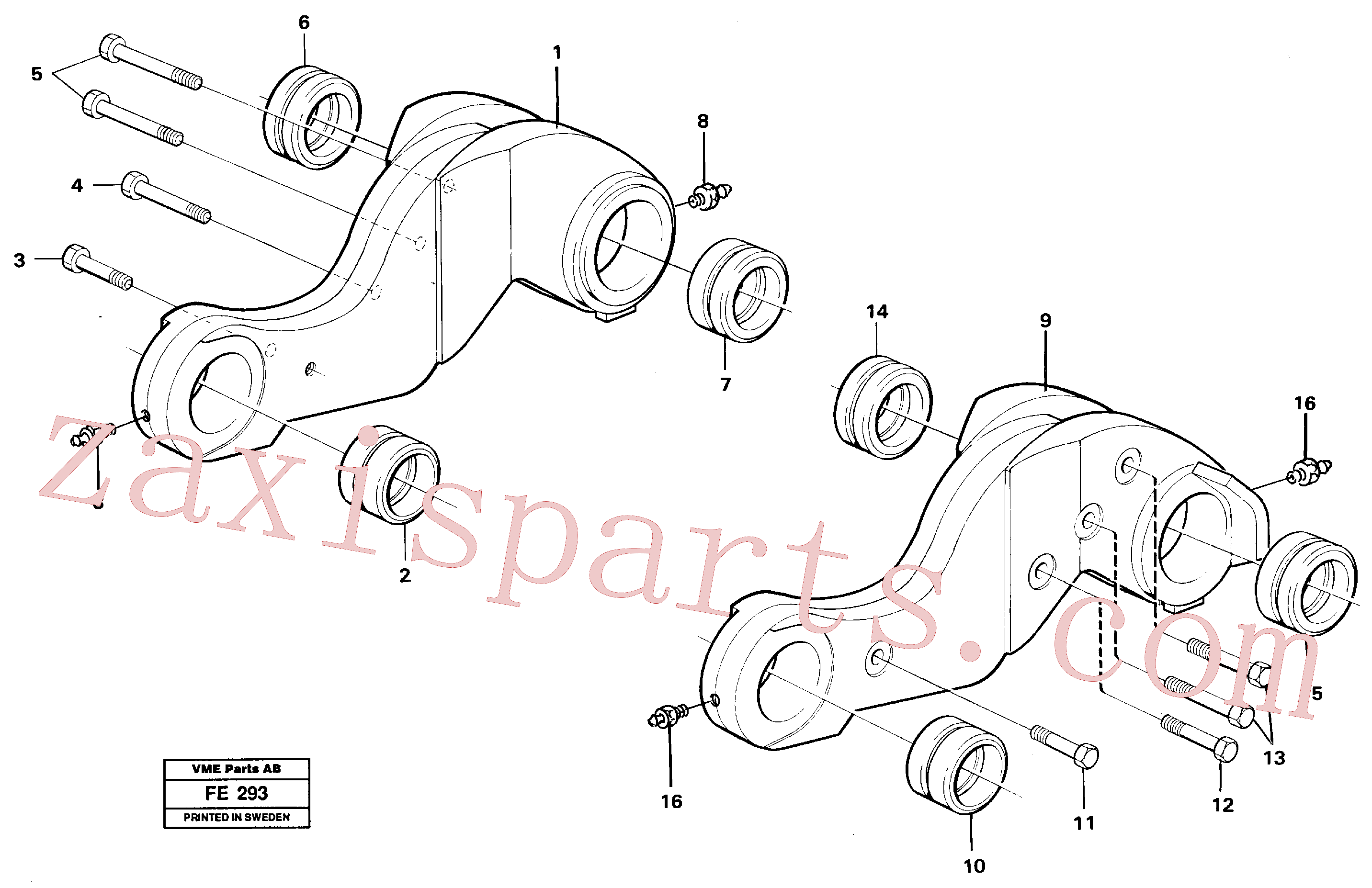 VOE14259328 for Volvo Lever(FE293 assembly)