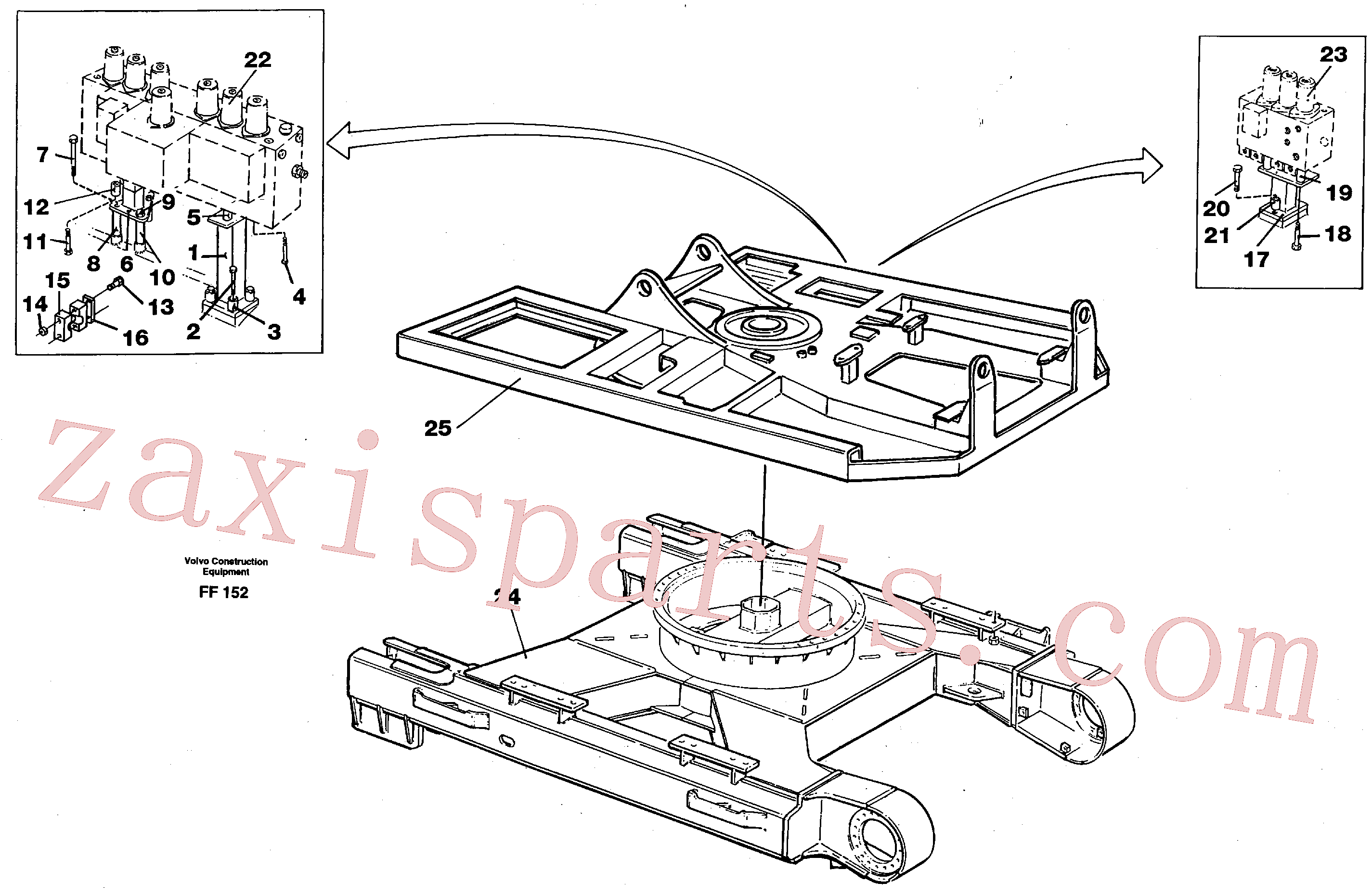 VOE970983 for Volvo Superstructure and undercarrige(FF152 assembly)