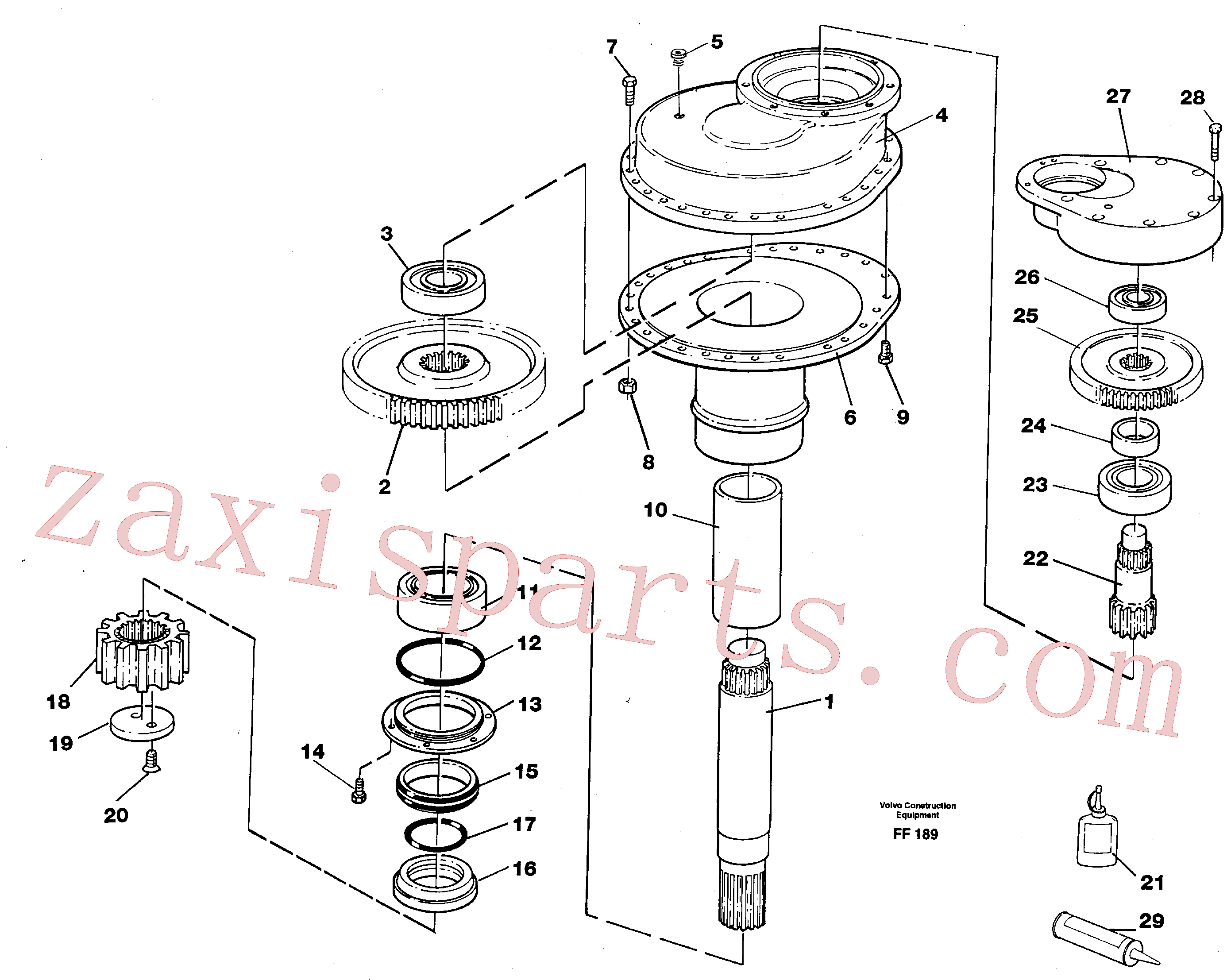 VOE14014695 for Volvo Swing gearbox(FF189 assembly)