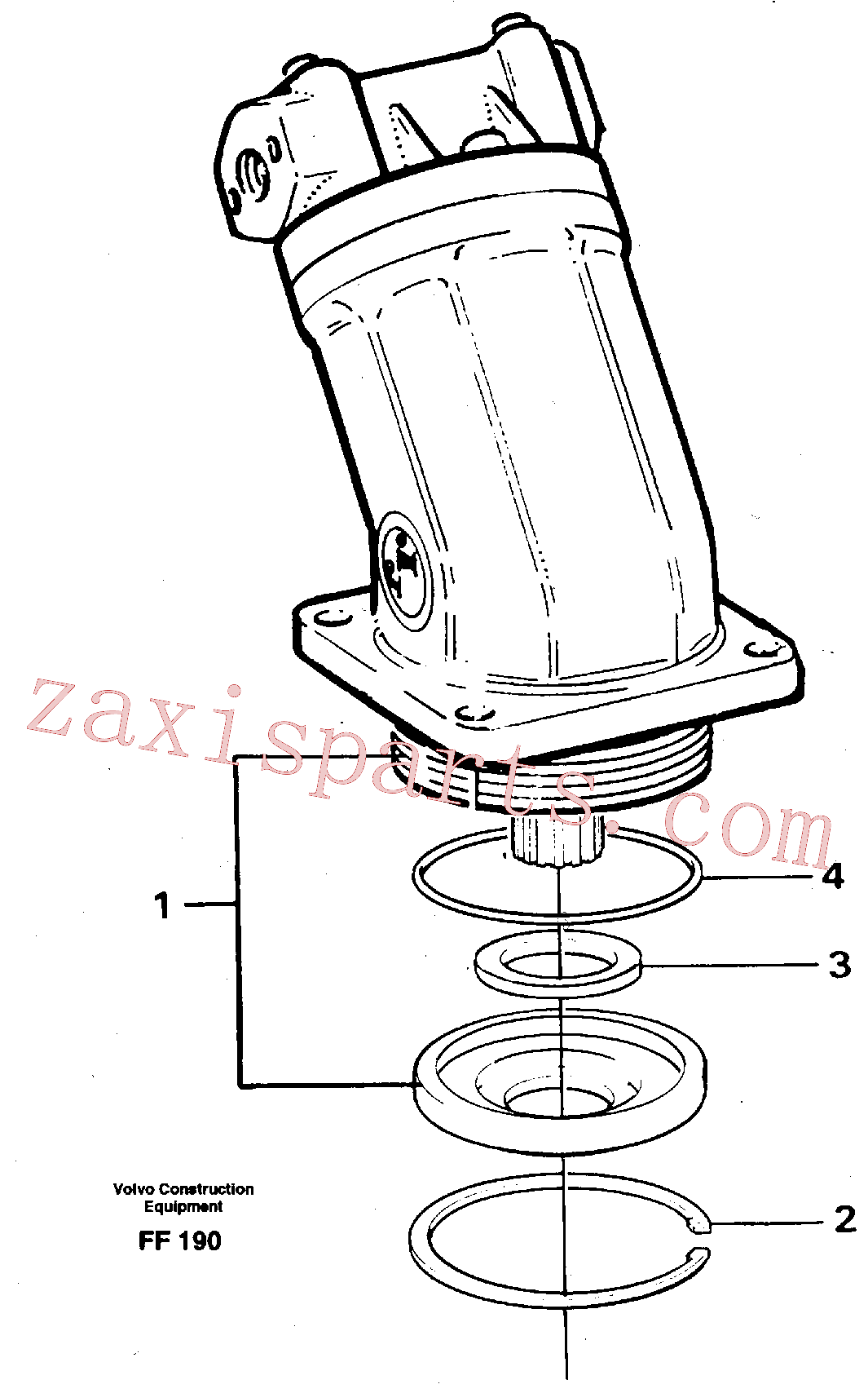 VOE7349689 for Volvo Hydraulic motor, slew(FF190 assembly)