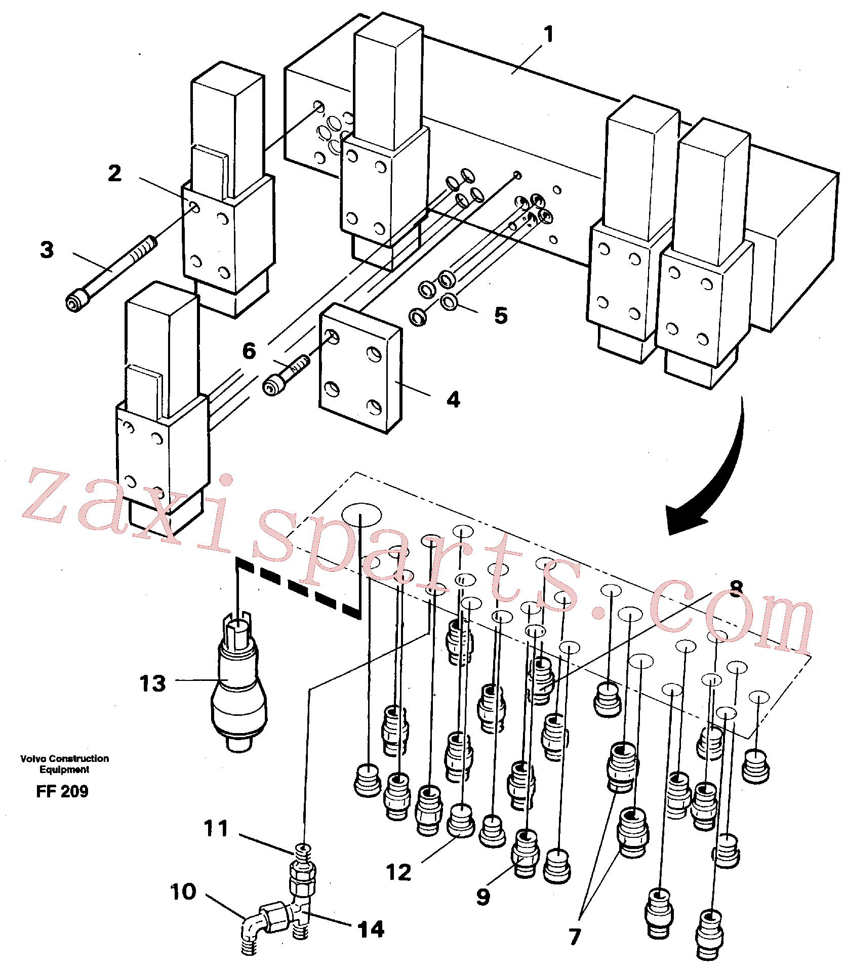 VOE11706958 for Volvo Stop control block(FF209 assembly)