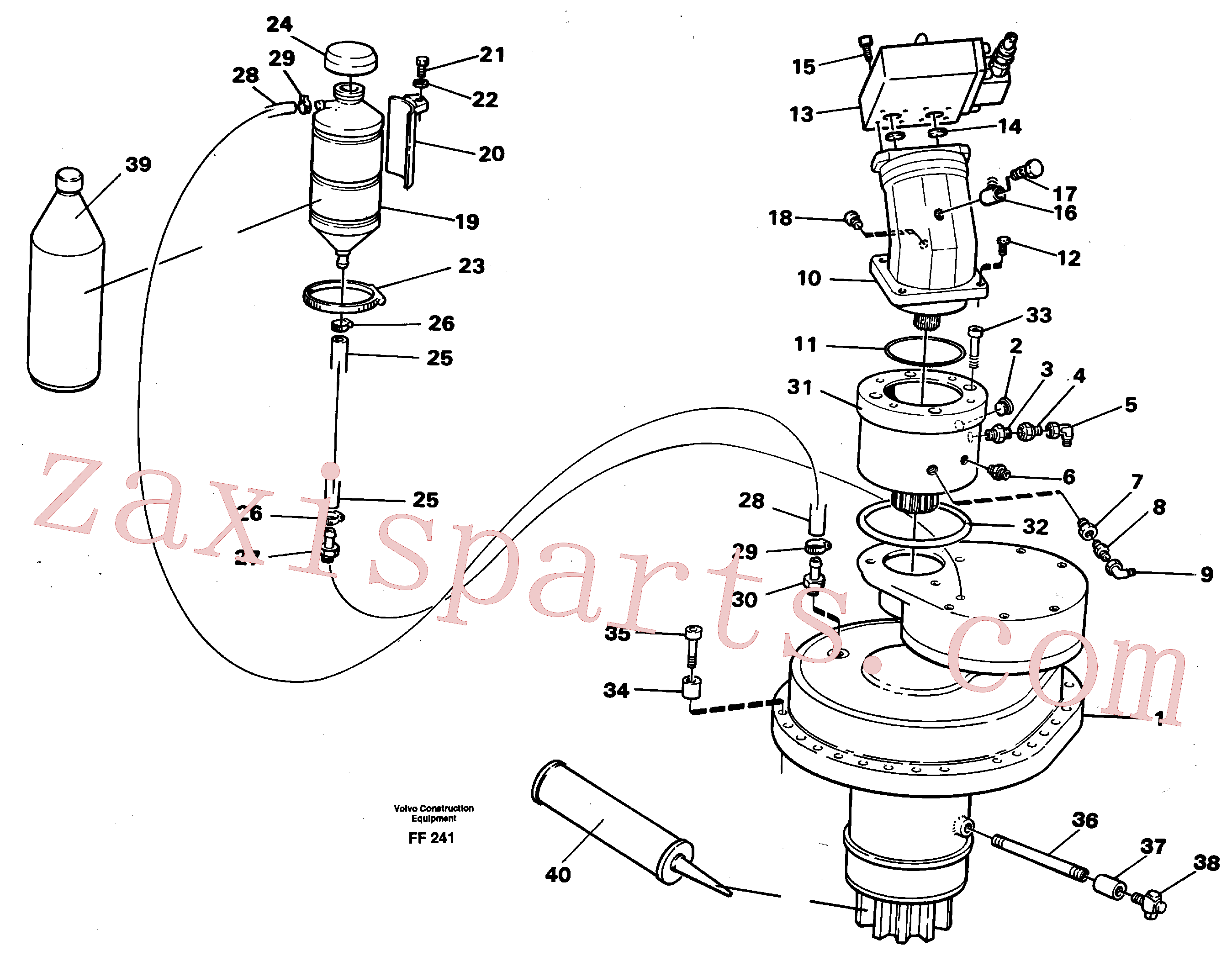 VOE14213275 for Volvo Slewing gear box with fitting parts(FF241 assembly)