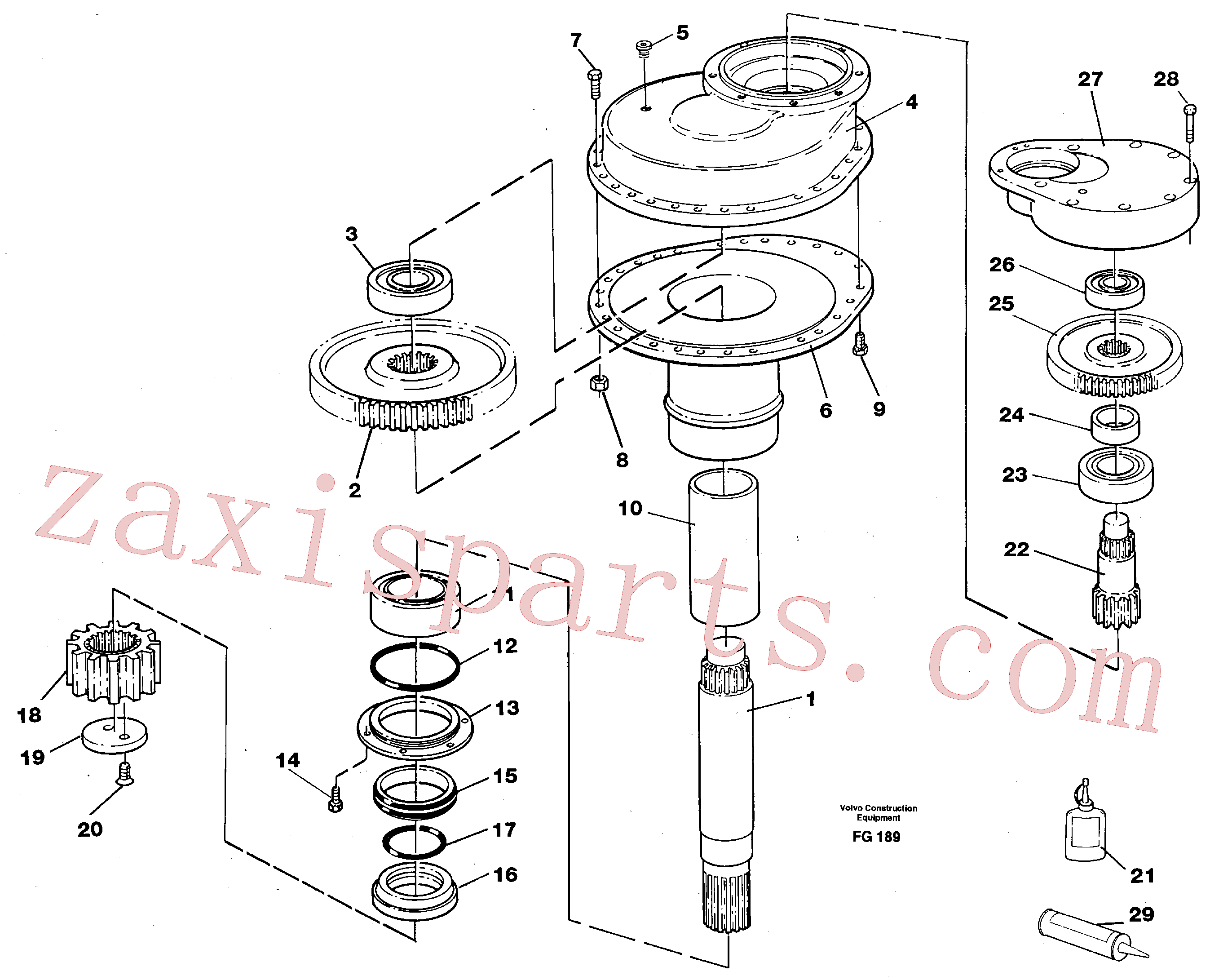 VOE14014695 for Volvo Swing gearbox(FG189 assembly)
