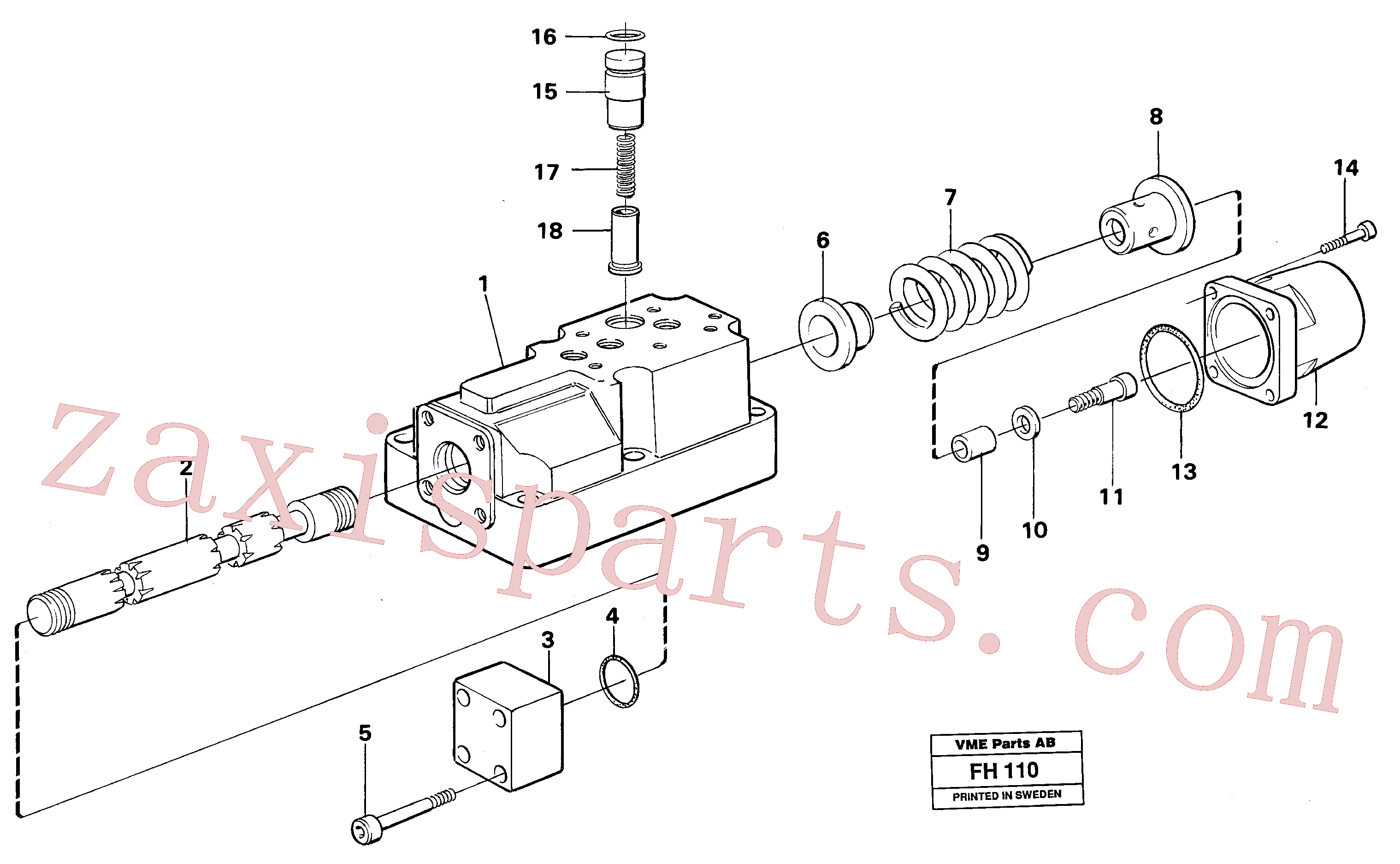 VOE14260697 for Volvo Four-way valve boom, primary(FH110 assembly)