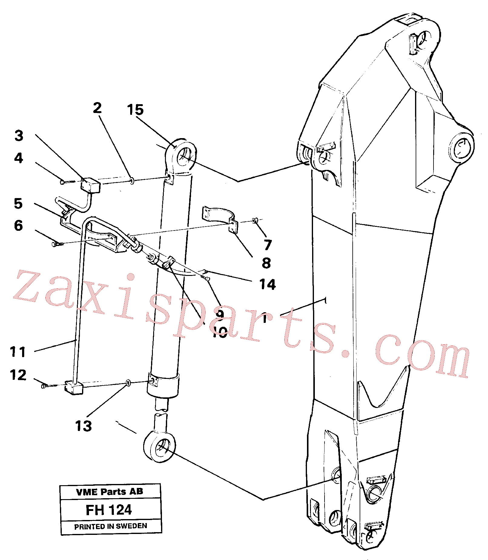 VOE14232833 for Volvo Dipper arm hydraulic(FH124 assembly)