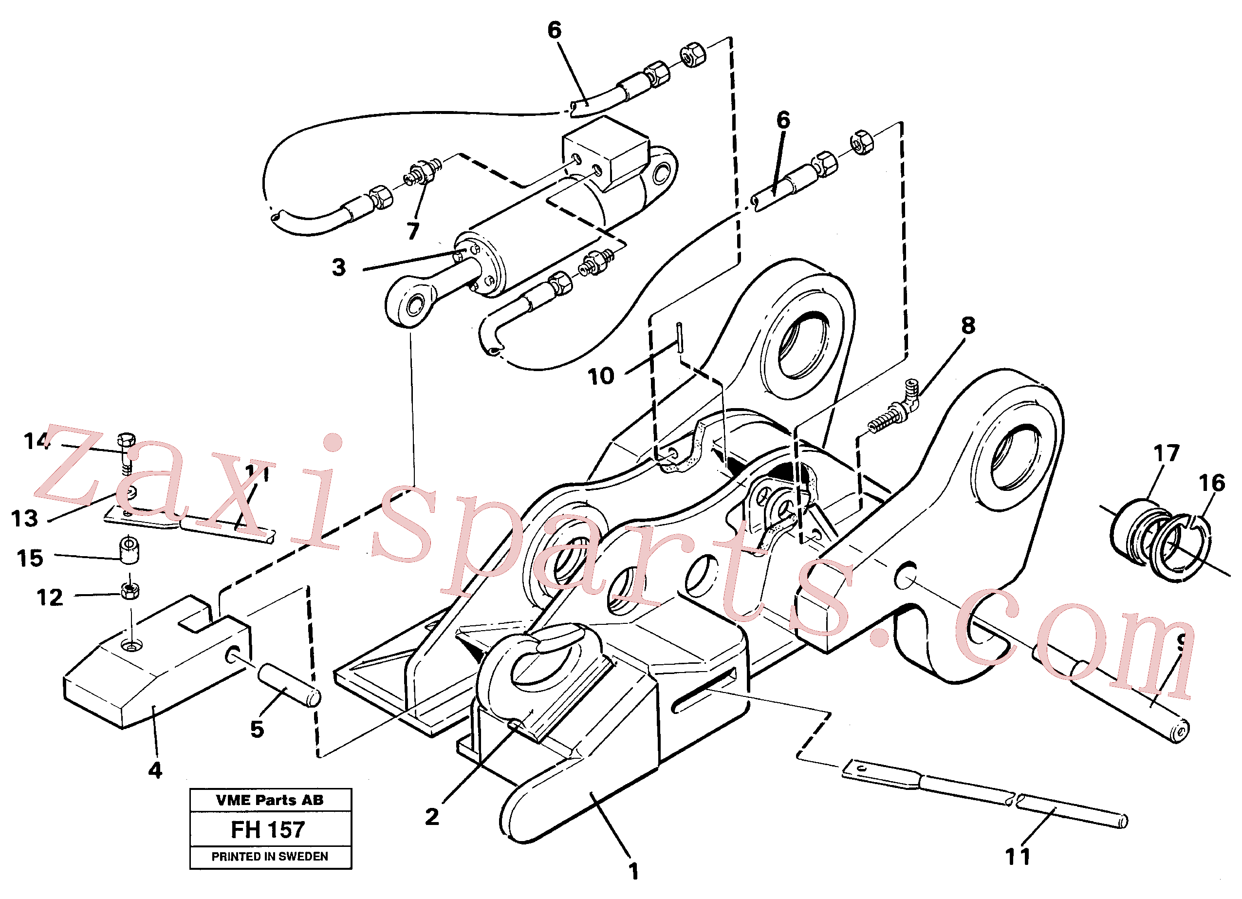 VOE14237587 for Volvo Quickfit, hydraulic(FH157 assembly)
