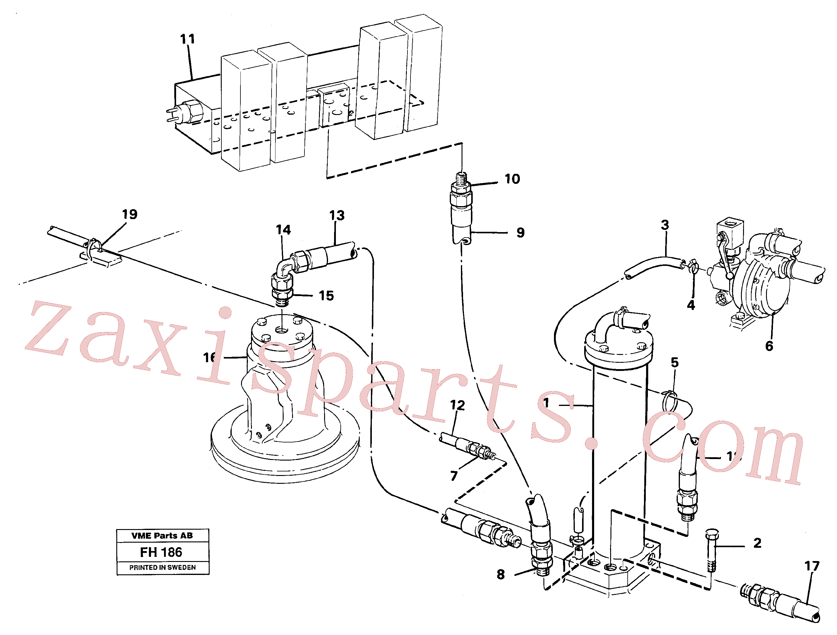 VOE14051492 for Volvo Leak oil filter, with connections(FH186 assembly)