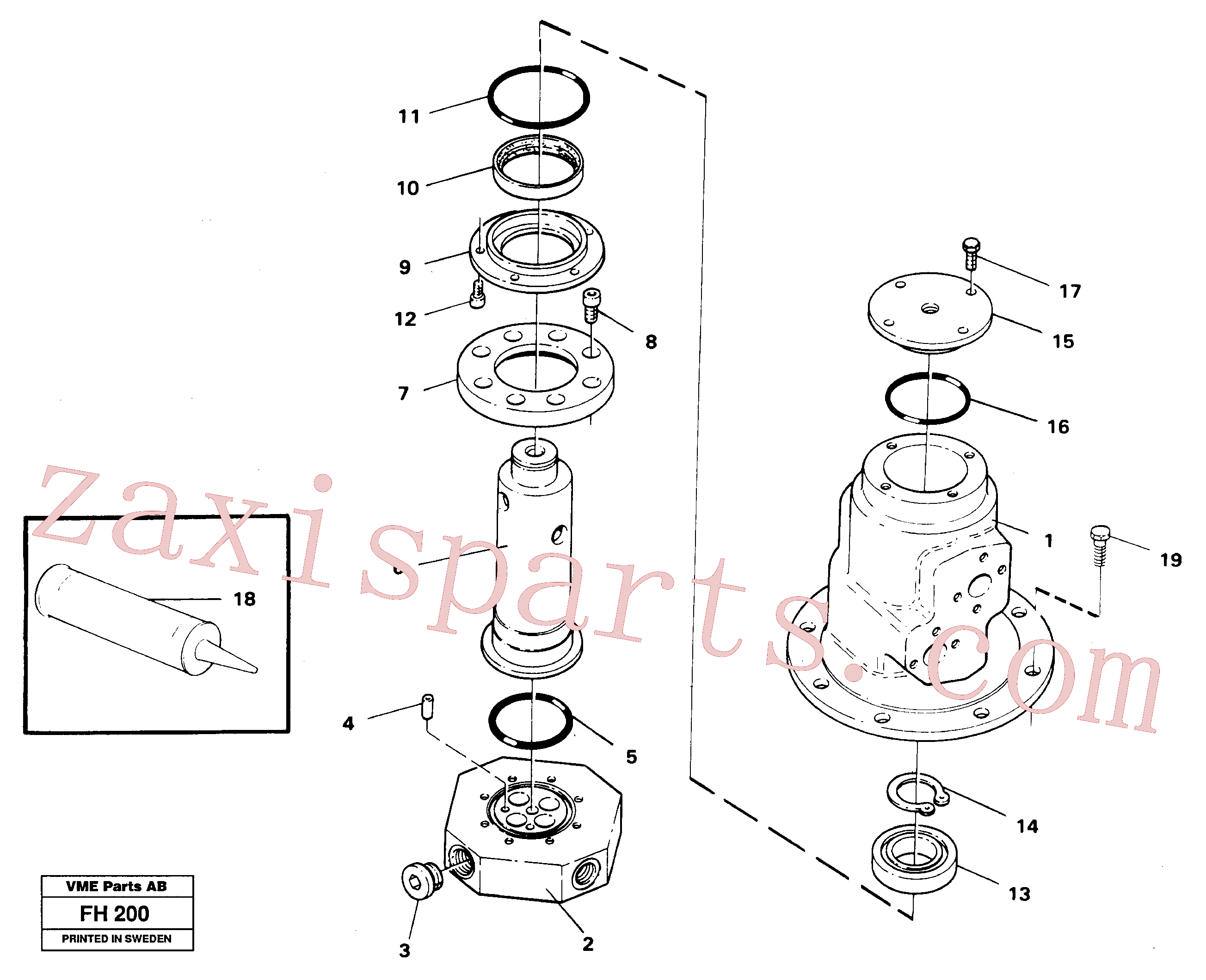 VOE14213678 for Volvo Turning joint(FH200 assembly)