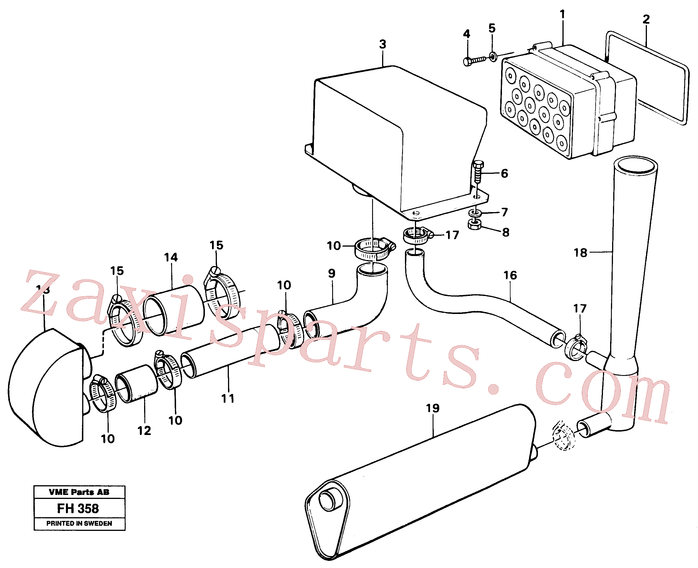 VOE14248986 for Volvo Precyclone with ejector(FH358 assembly)