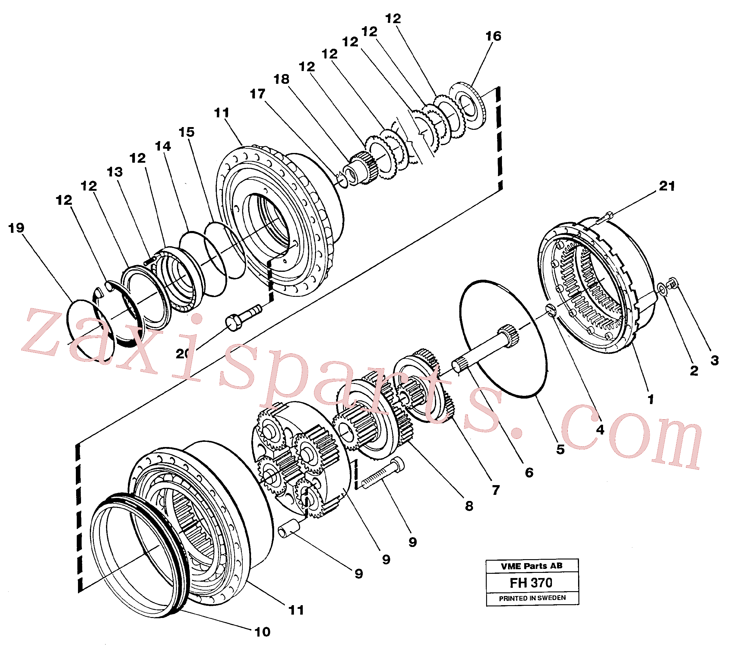 RM70921408 for Volvo Planetary gear, travel(FH370 assembly)