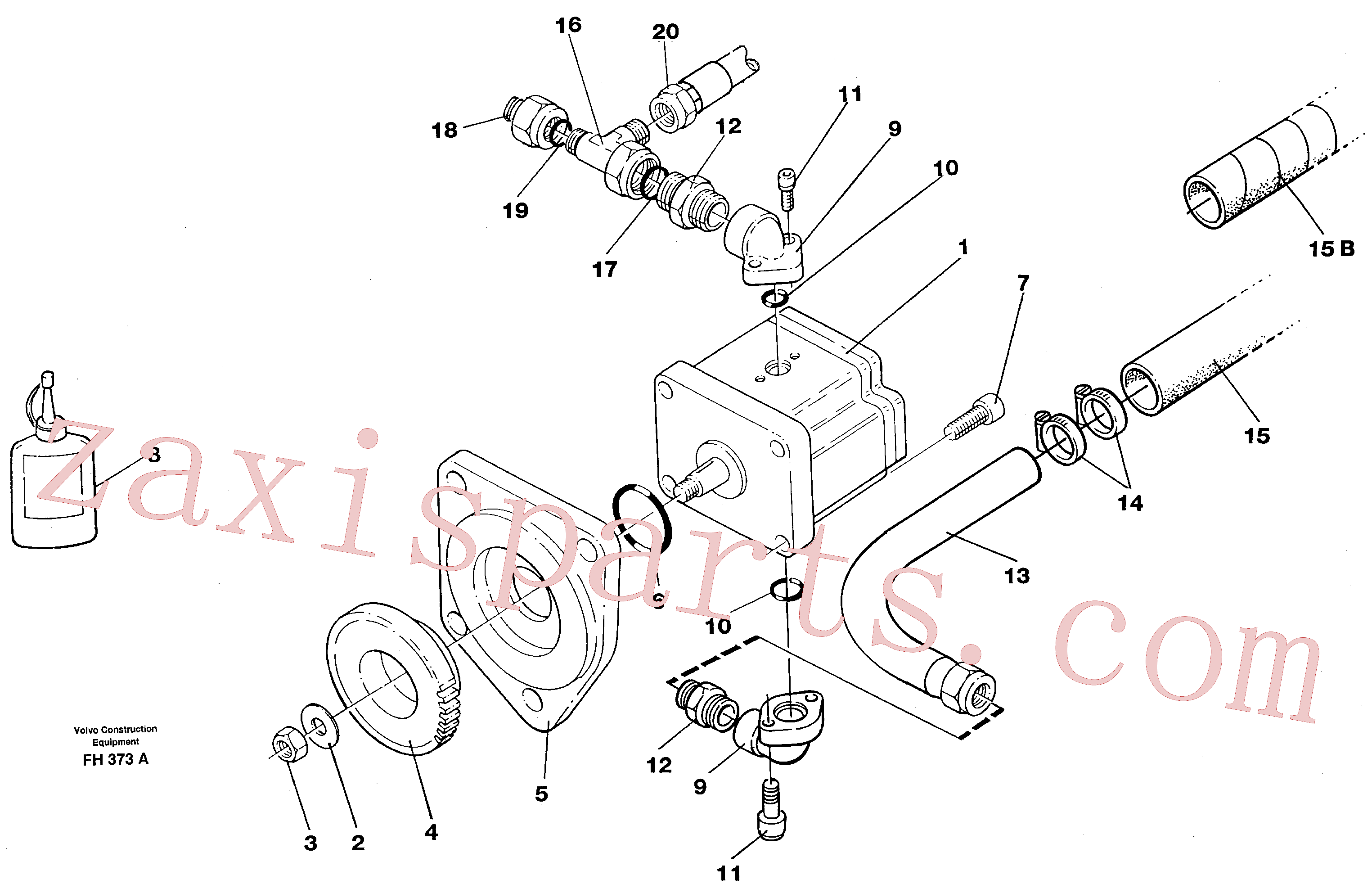 VOE14213887 for Volvo Servo pump with assembly parts(FH373A assembly)