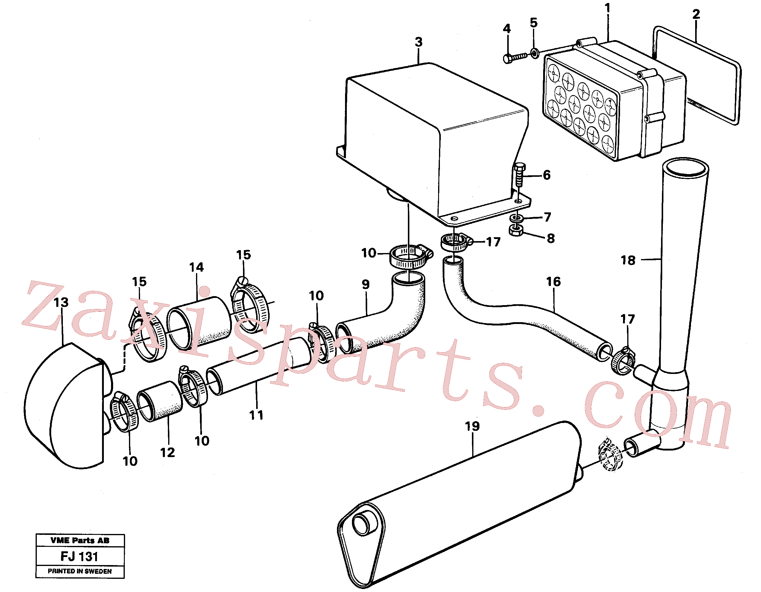 VOE14248986 for Volvo Precyclone with ejector(FJ131 assembly)