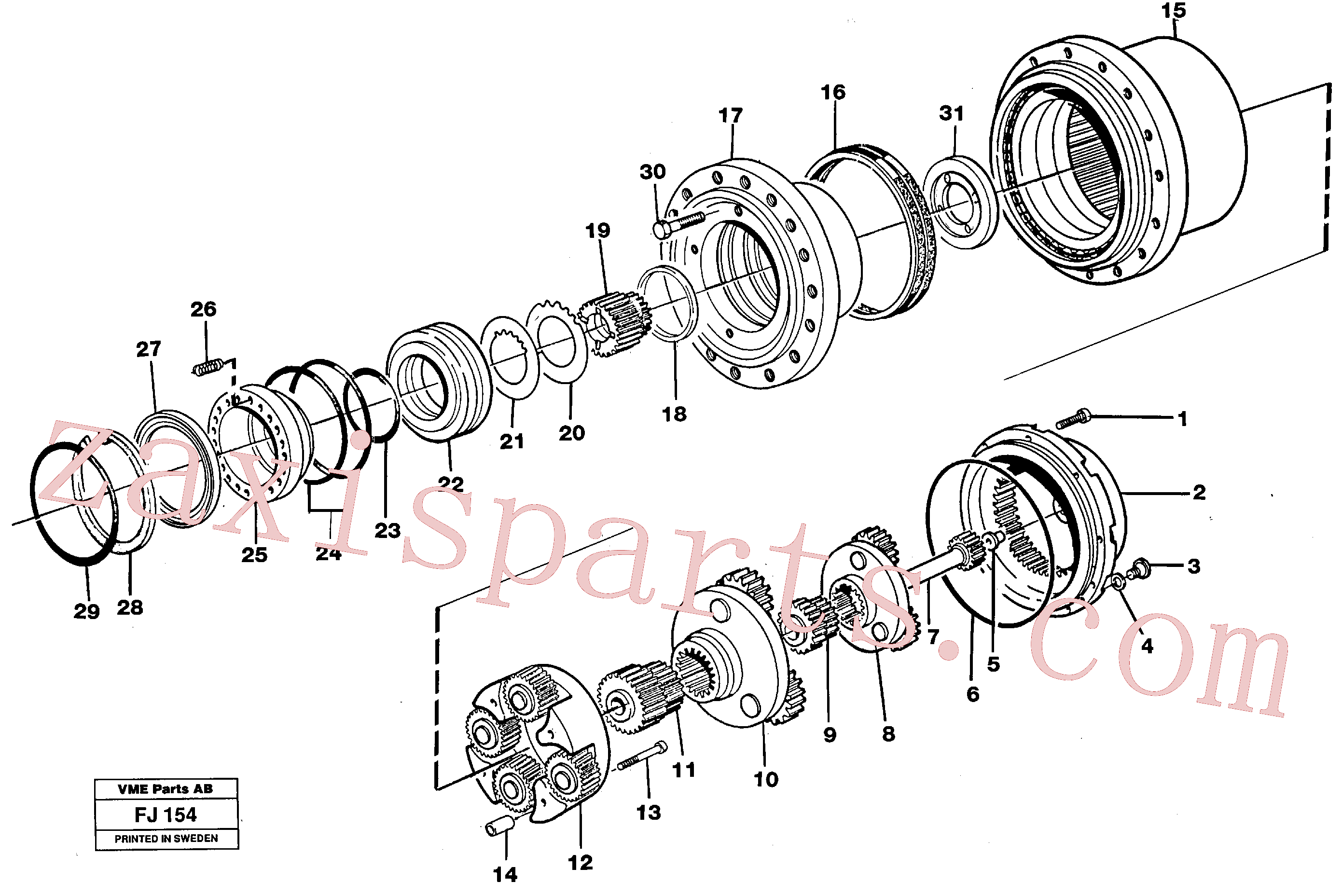 RM70921093 for Volvo Planetary gear, travel(FJ154 assembly)