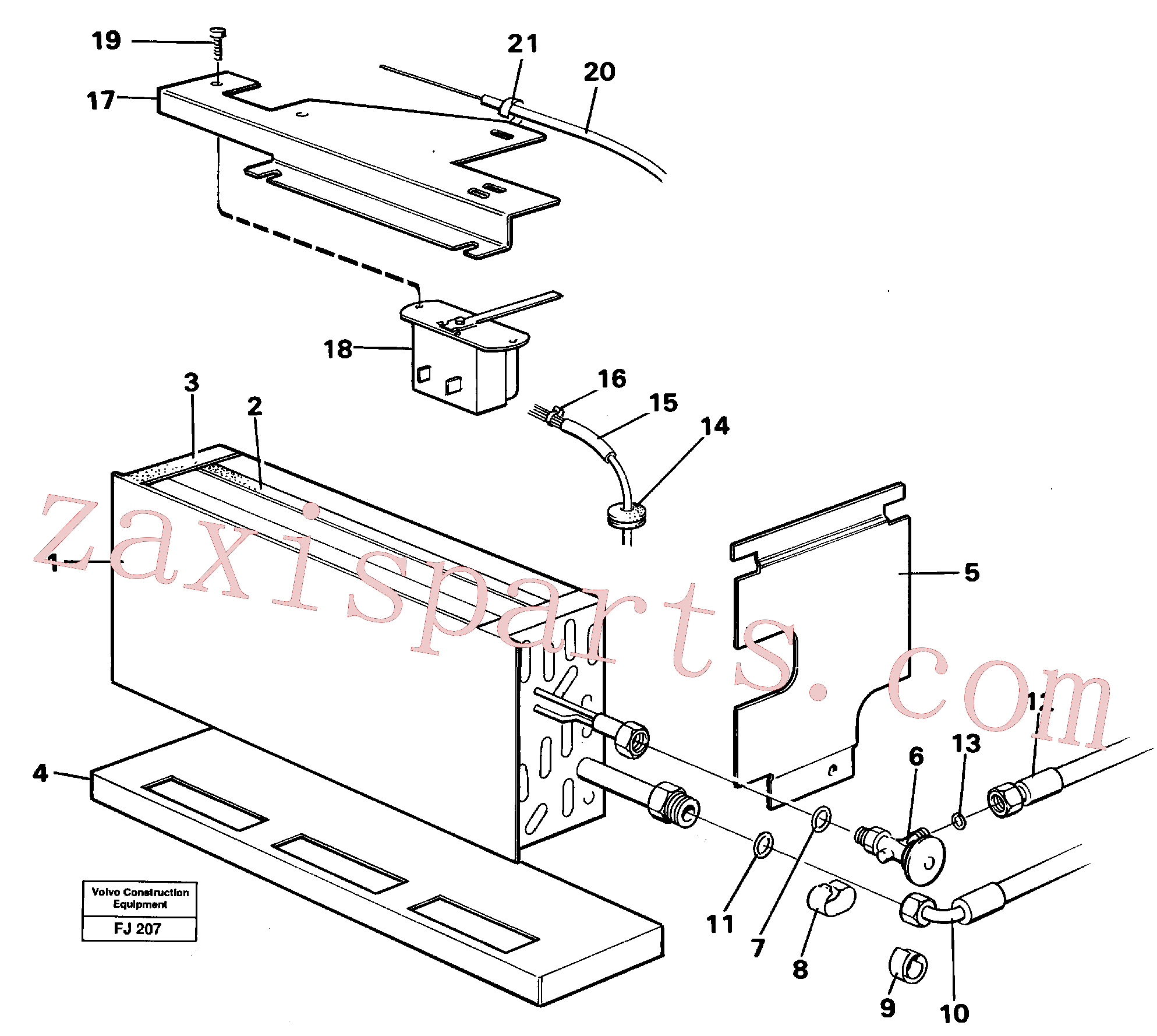 VOE14213543 for Volvo Evaporator with fitting parts Cooling agent R12,r134a(FJ207 assembly)