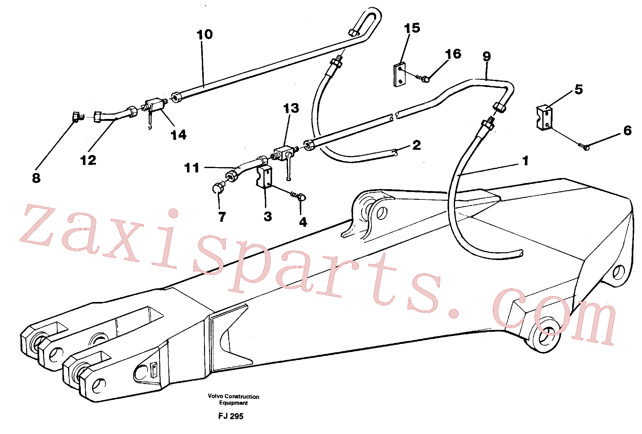 VOE14263478 for Volvo Hammer hydraulics for dipper arm incl. shut-offcocks.(FJ295 assembly)