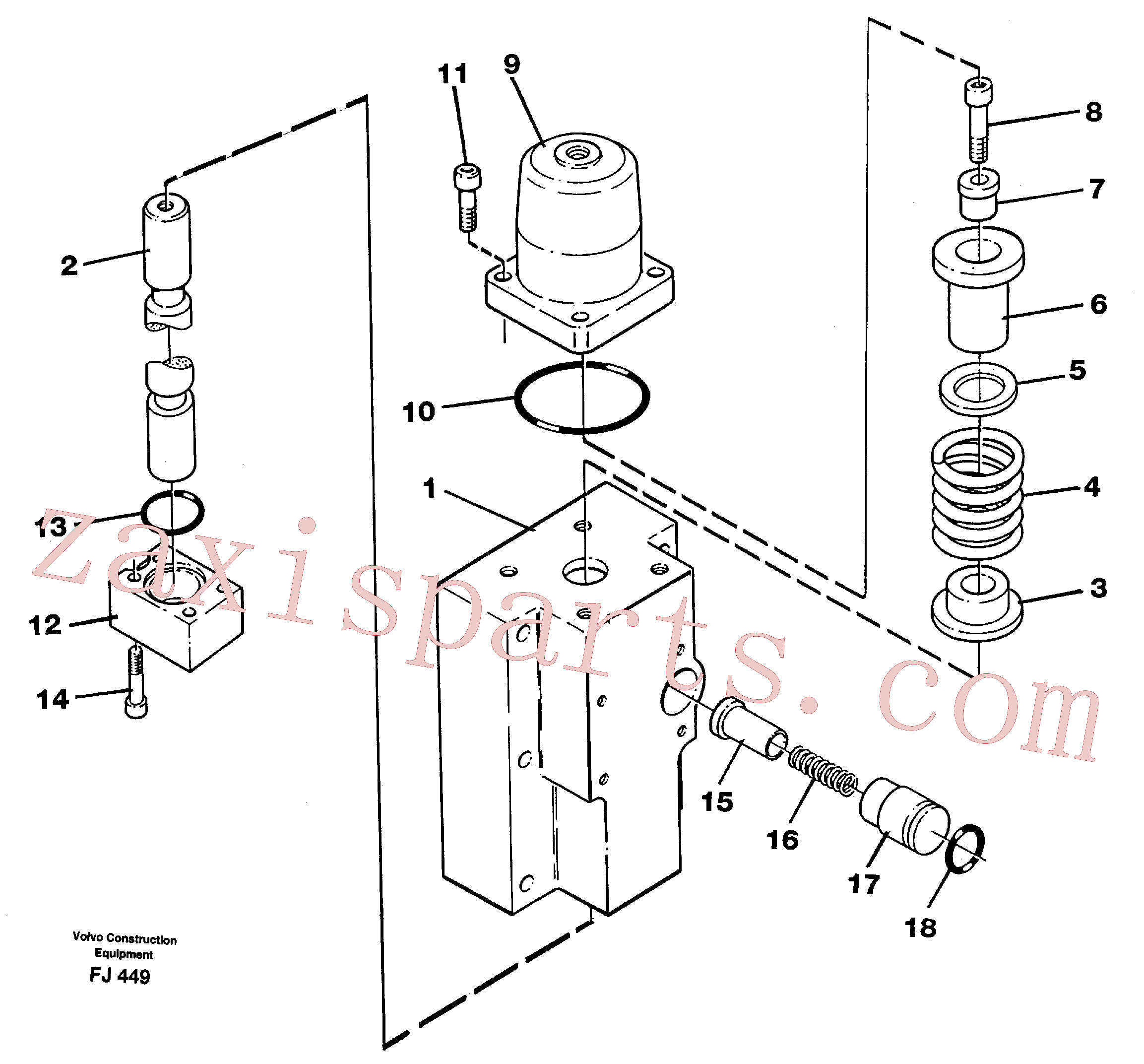 VOE14250509 for Volvo Four-way valve(FJ449 assembly)