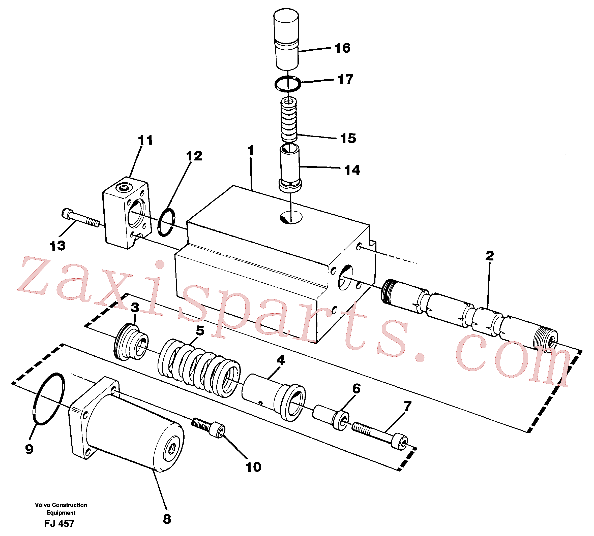 VOE14048558 for Volvo Four-way valve(FJ457 assembly)