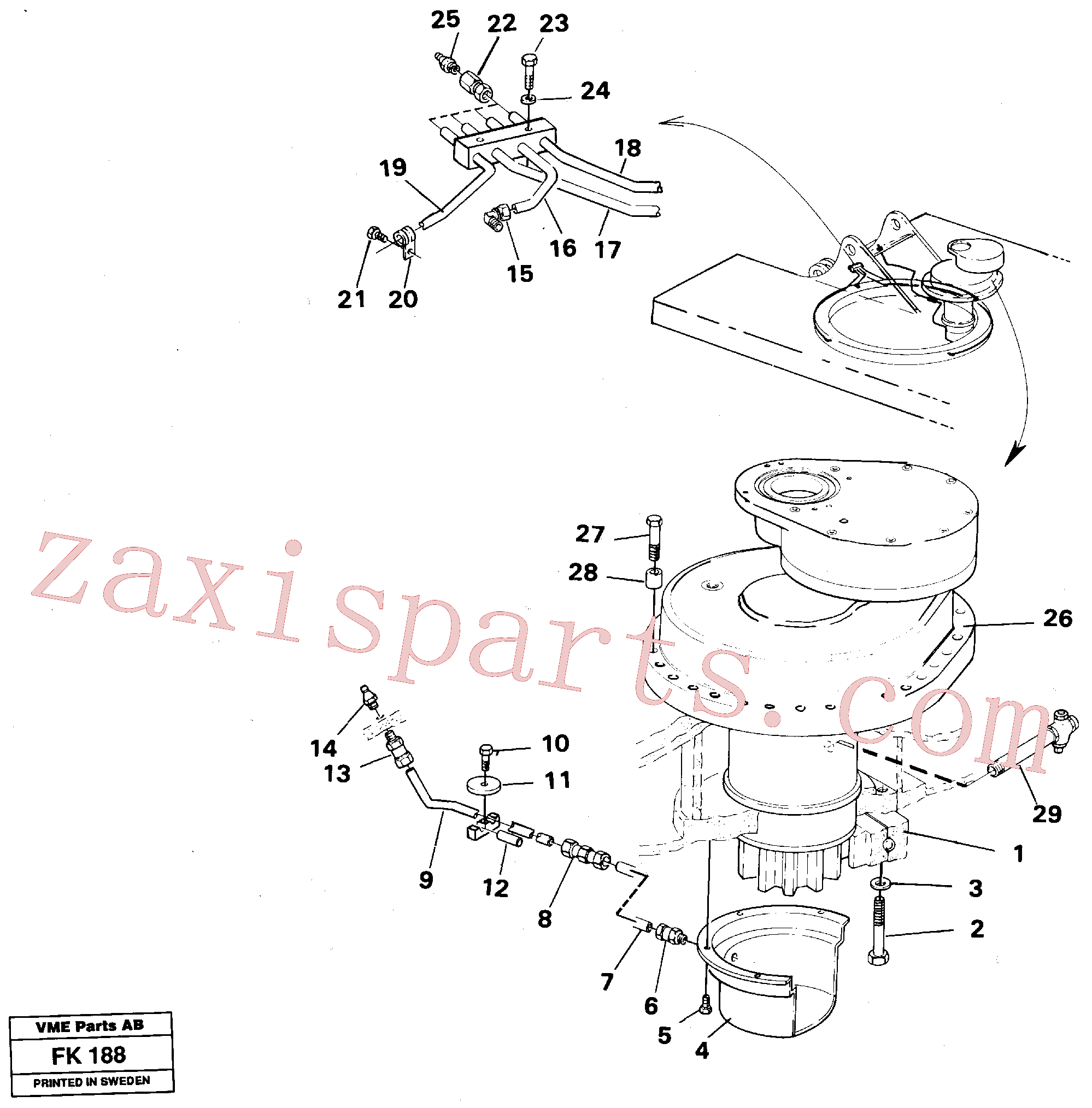 VOE14259689 for Volvo Superstructure with slew transmission(FK188 assembly)