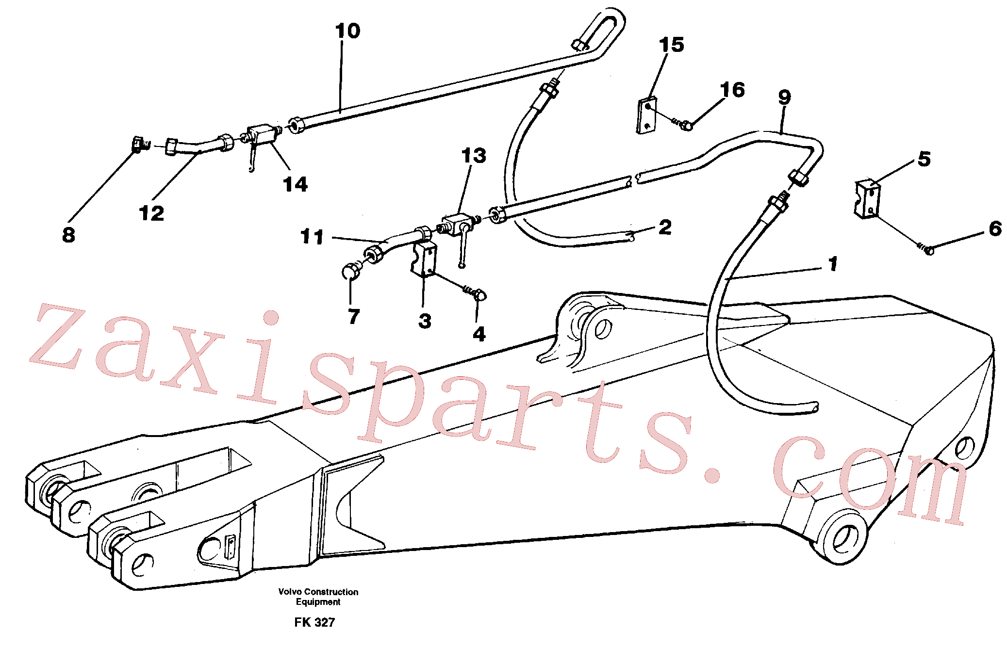 VOE14263478 for Volvo Hammer hydraulics for dipper arm incl. shut-offcocks.(FK327 assembly)