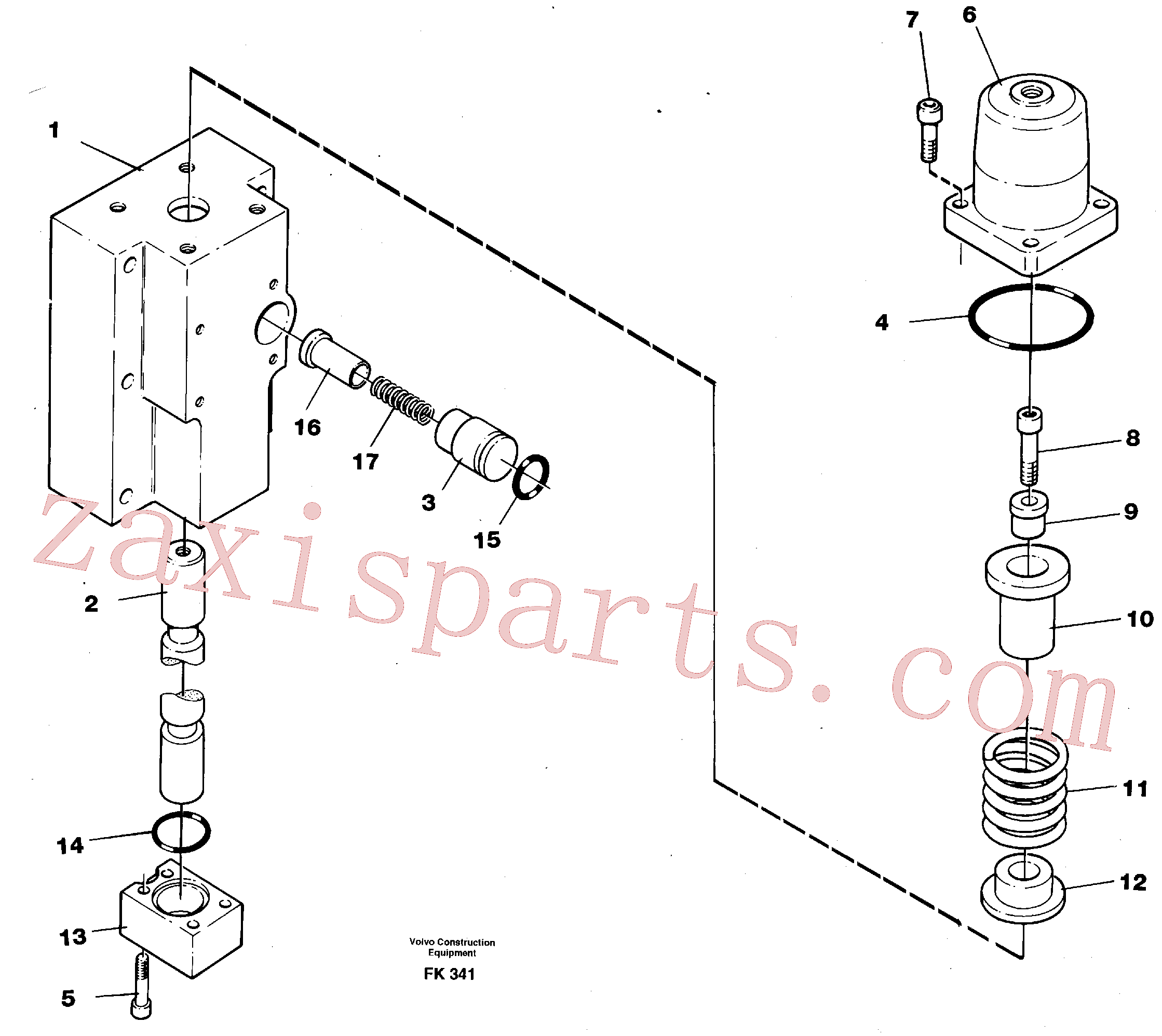 VOE14250509 for Volvo Four-way valve, bucket primary(FK341 assembly)