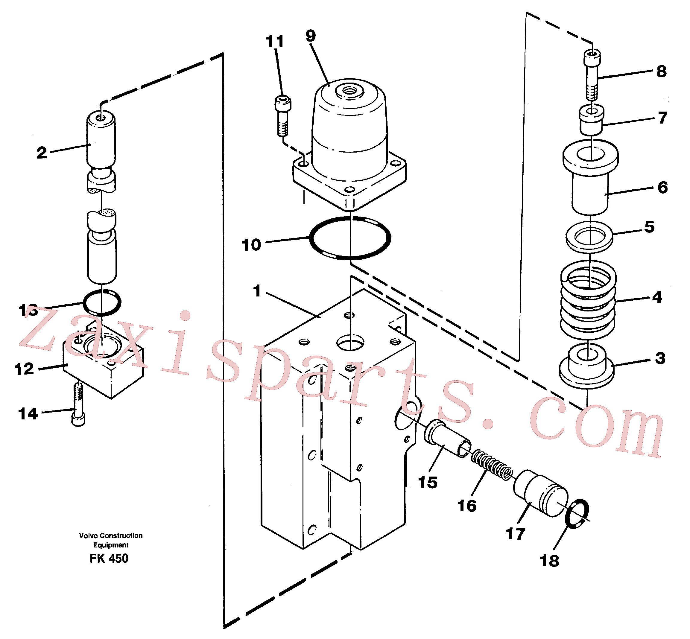 VOE14250509 for Volvo Four-way valve(FK450 assembly)
