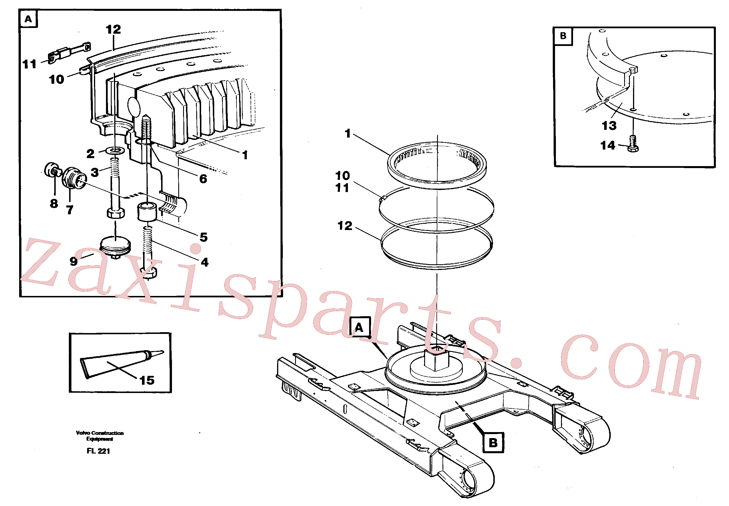 VOE14049631 for Volvo Slewing ring attachment(FL221 assembly)