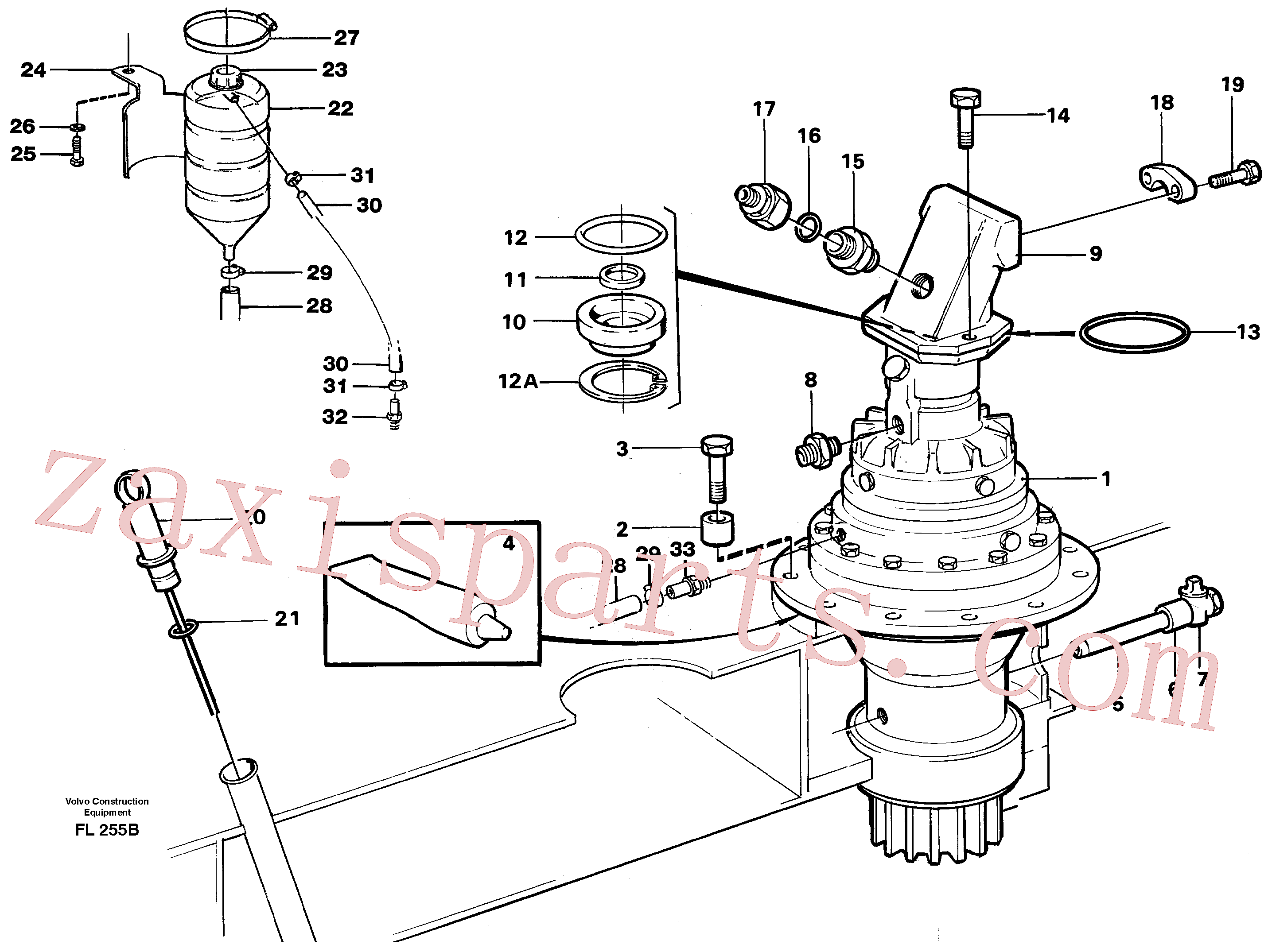 VOE14340910 for Volvo Superstructure with slew transmission(FL255B assembly)