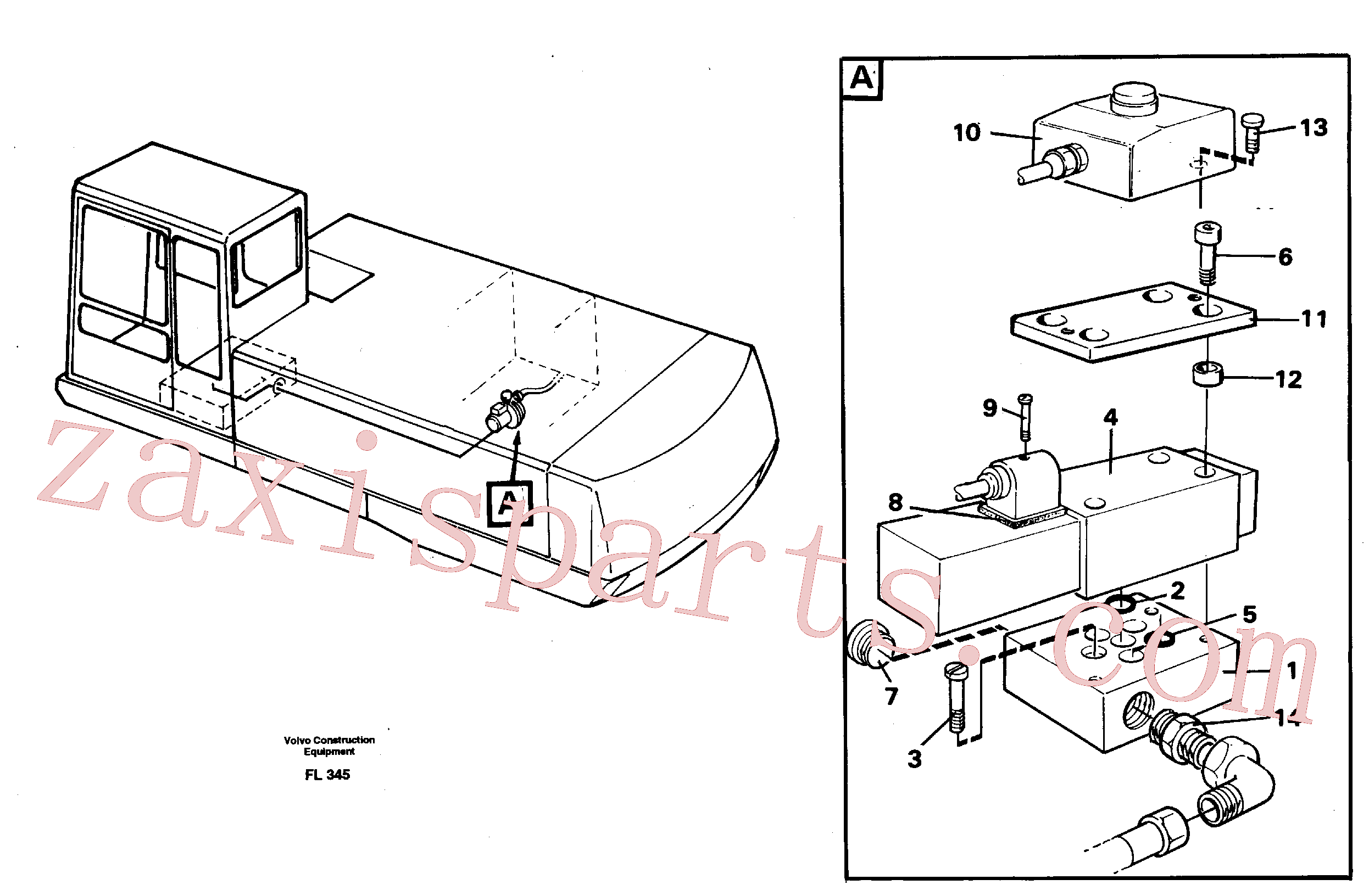 VOE14214602 for Volvo Overfilling guard(FL345 assembly)