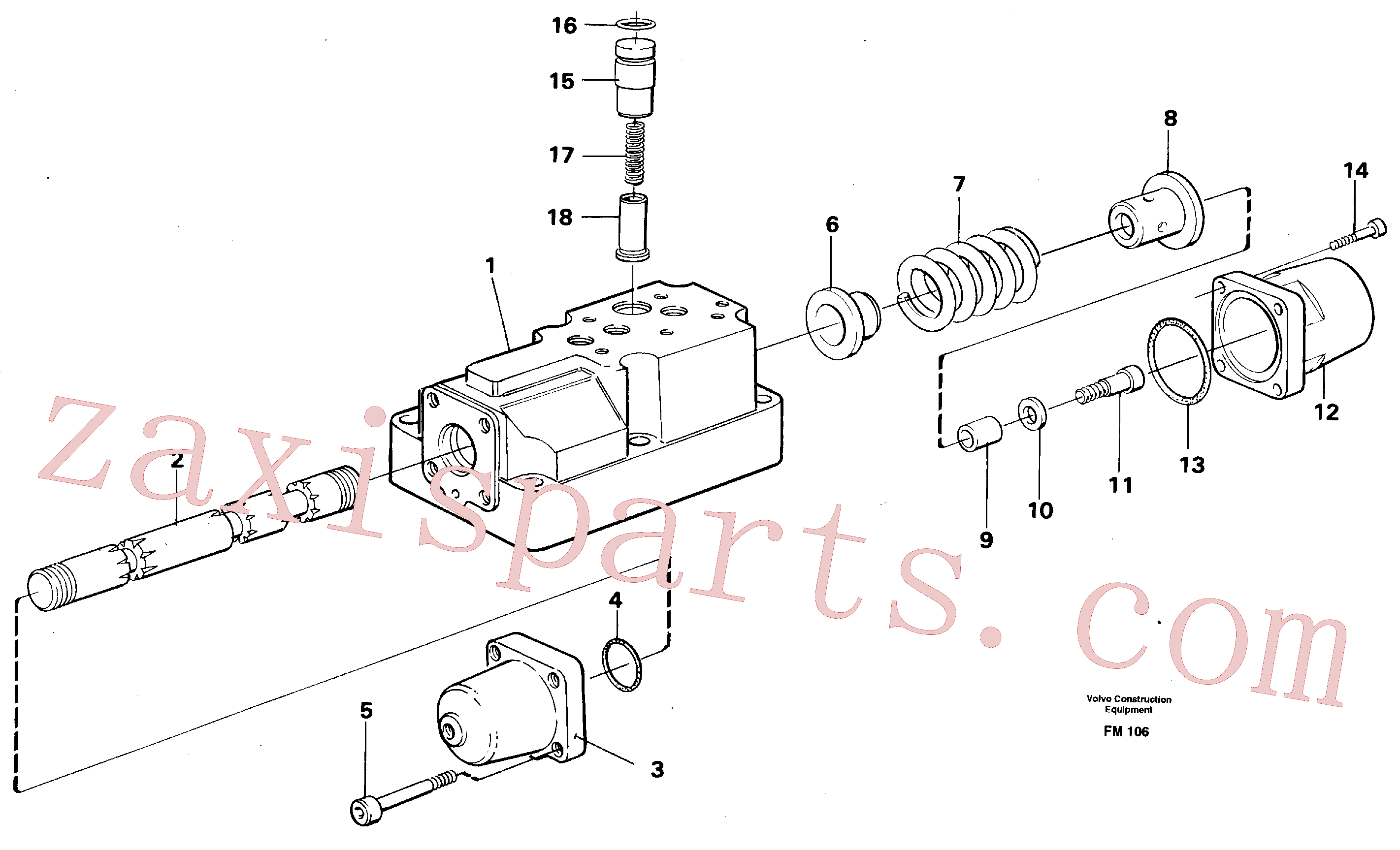 VOE14234787 for Volvo Four-way valve(FM106 assembly)