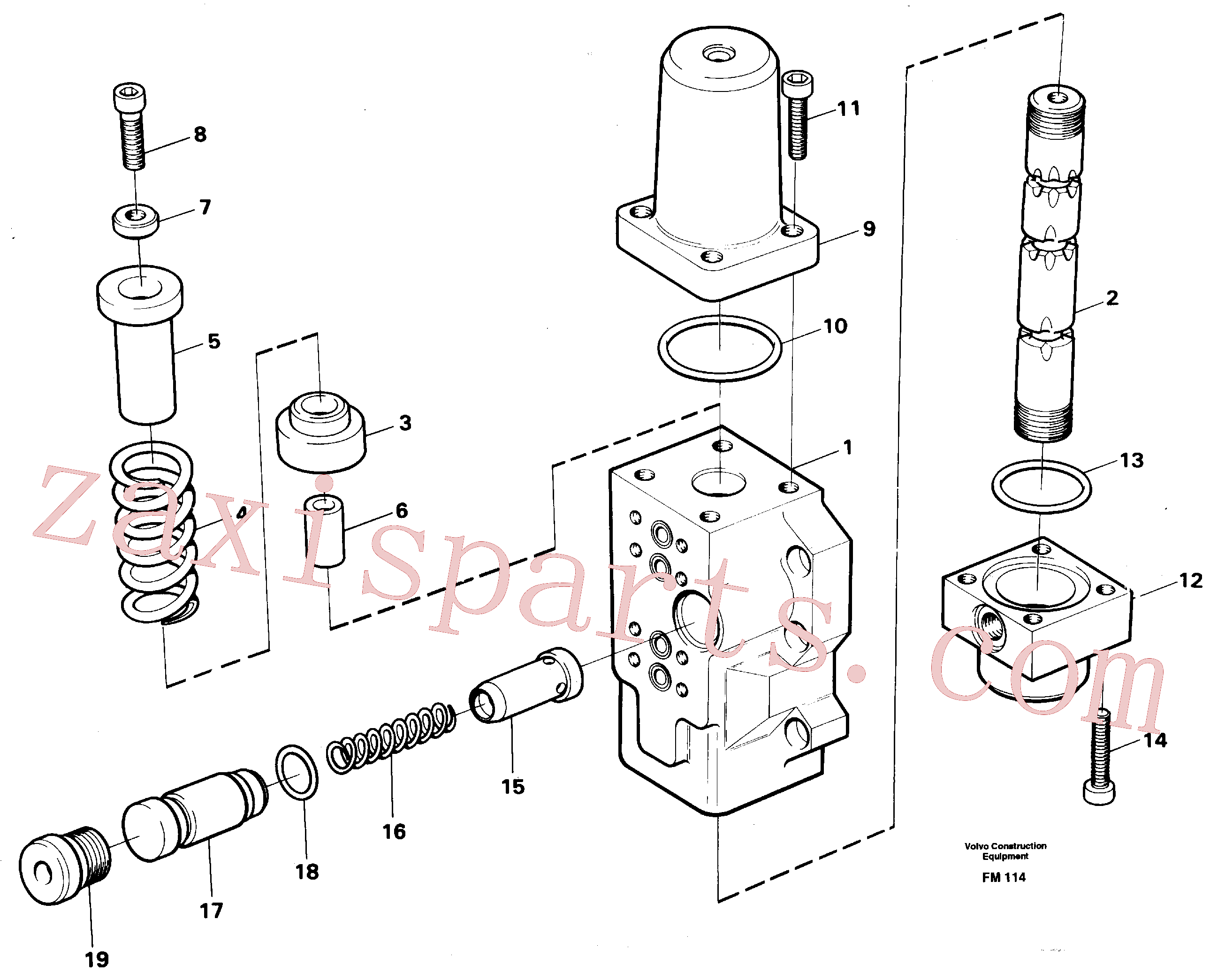 VOE14256962 for Volvo Fourway valve, boom secondary(FM114 assembly)