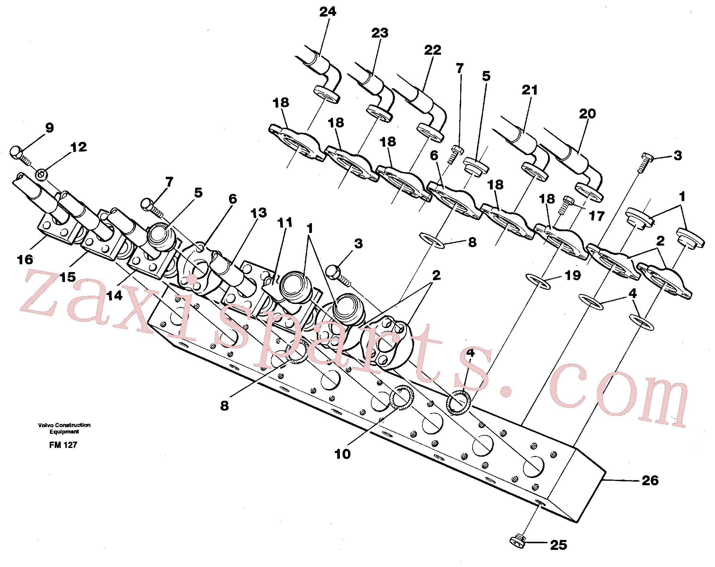 VOE14265516 for Volvo Conneection block with hoses(FM127 assembly)