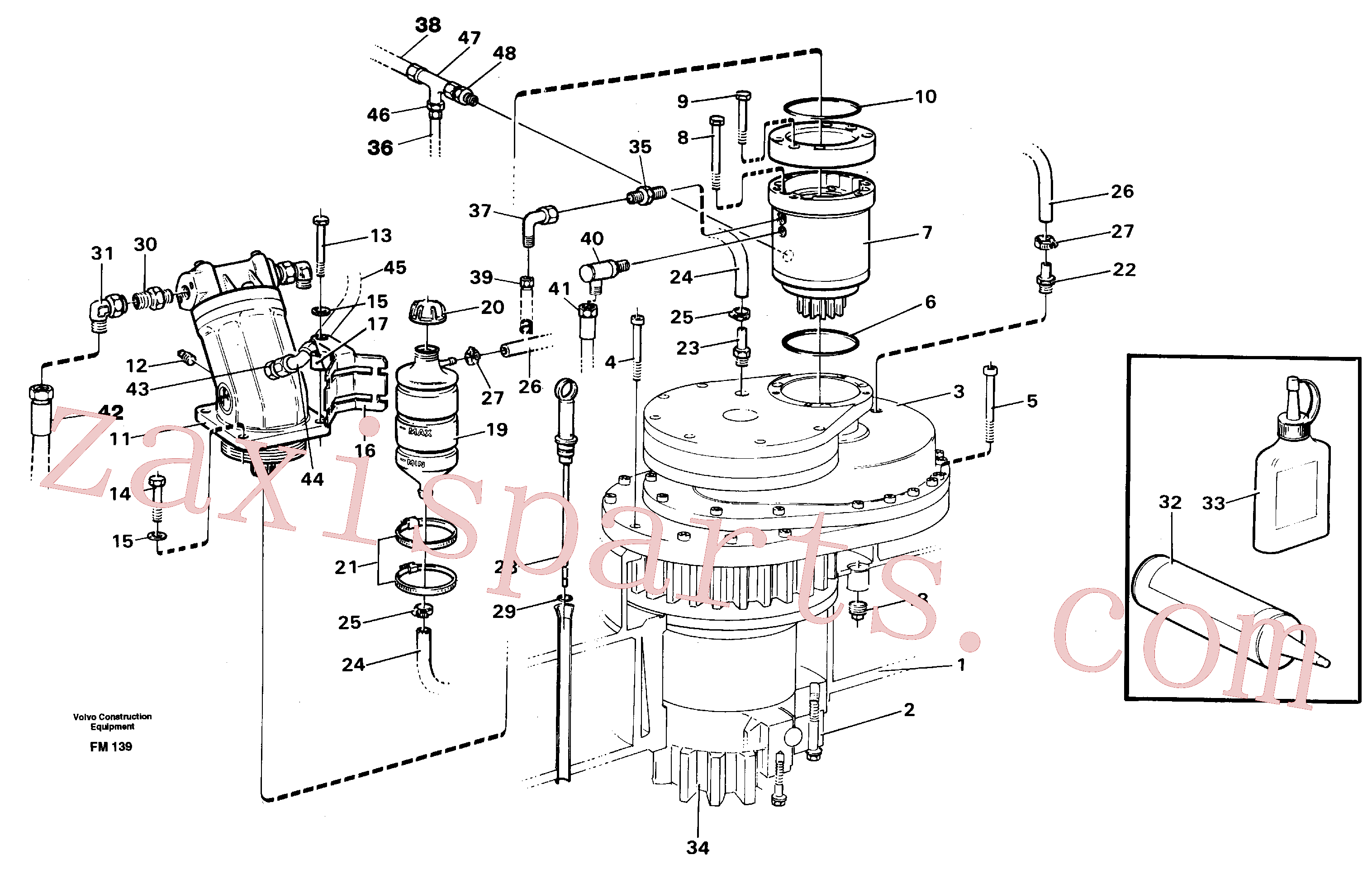 VOE14016813 for Volvo Superstructure with slew transmission(FM139 assembly)