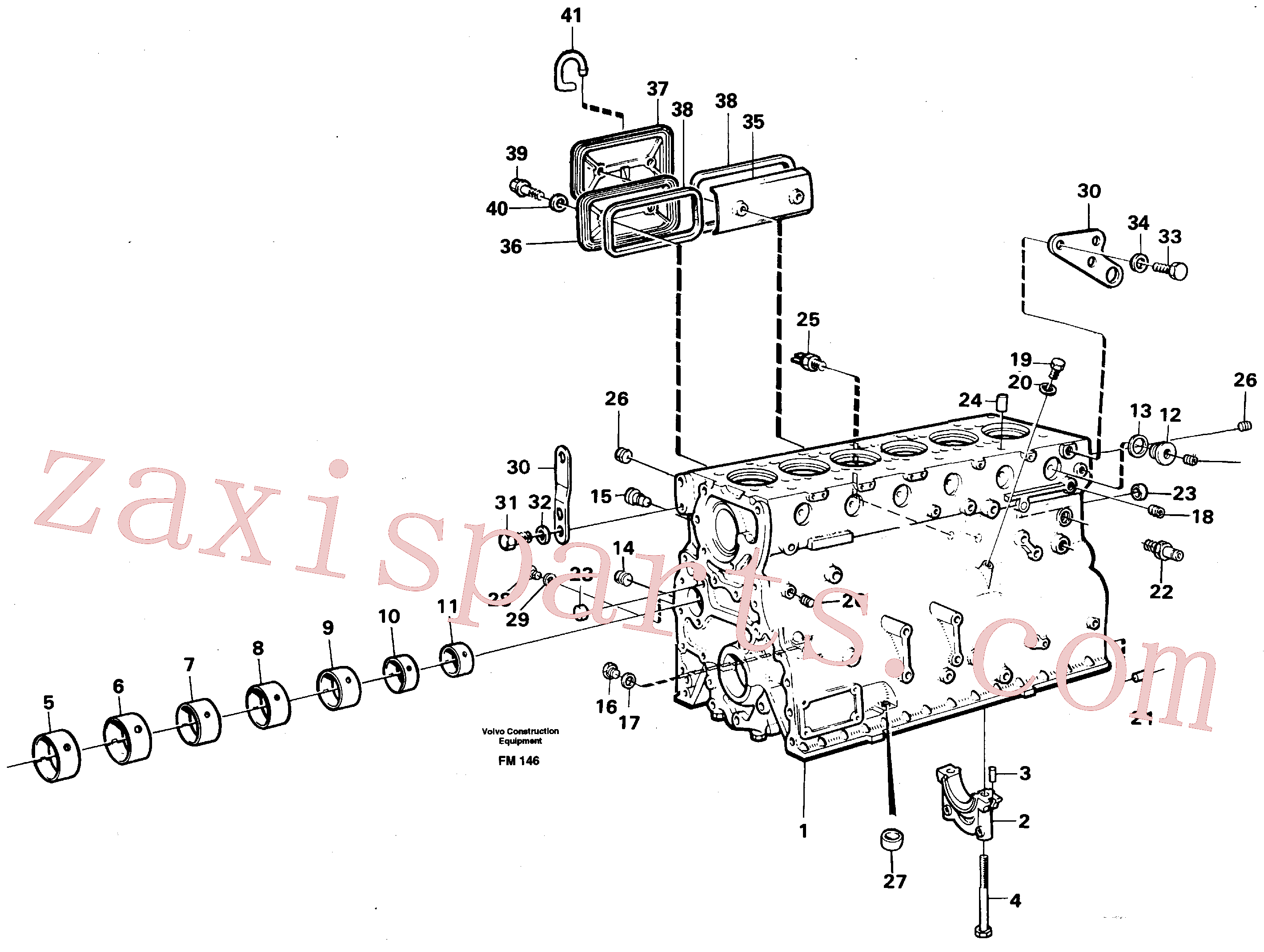 VOE18818 for Volvo Cylinder block(FM146 assembly)