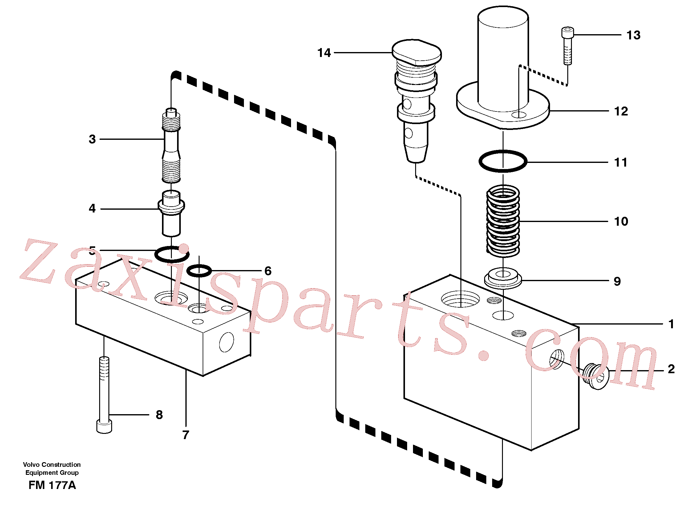 VOE14054984 for Volvo Thermostatic valve(FM177A assembly)